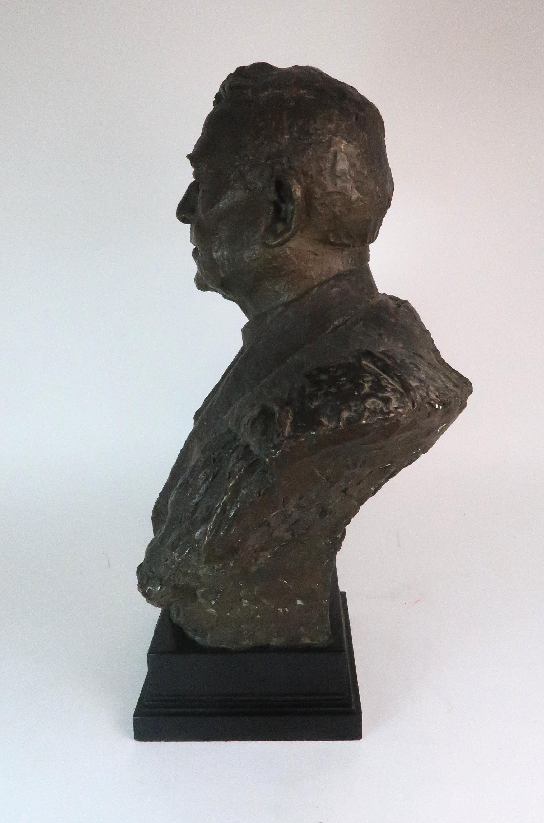 •BENNO SCHOTZ RSA (SCOTTISH 1891-1984) SIR JOHN STEWART LLD (LORD PROVOST OF GLASGOW 1935-1938) - Image 2 of 4