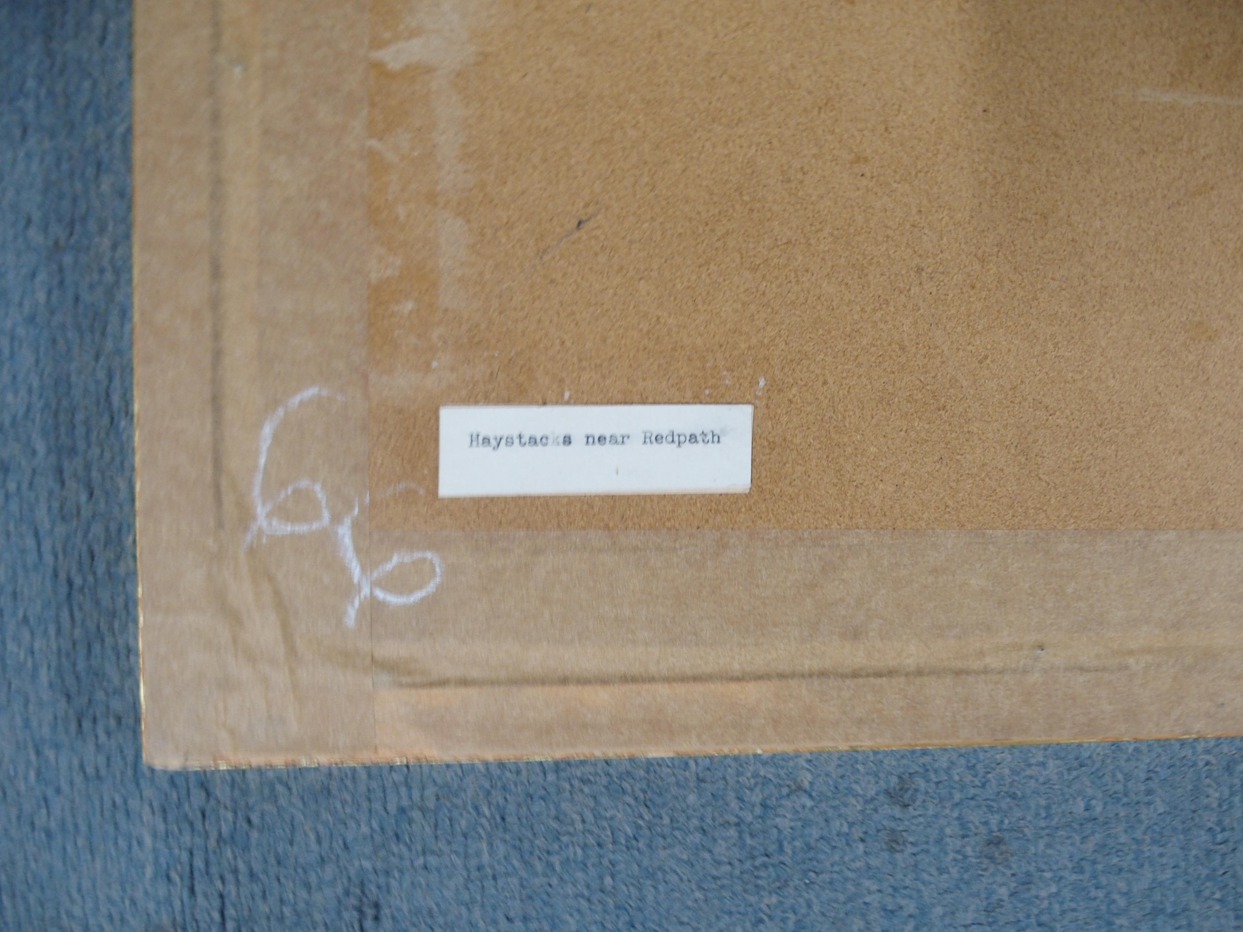 *WITHDRAWN* •EARL HAIG OBE, RSA (SCOTTISH 1918-2009) HAYSTACKS NEAR REDPATH Ink - Image 5 of 5