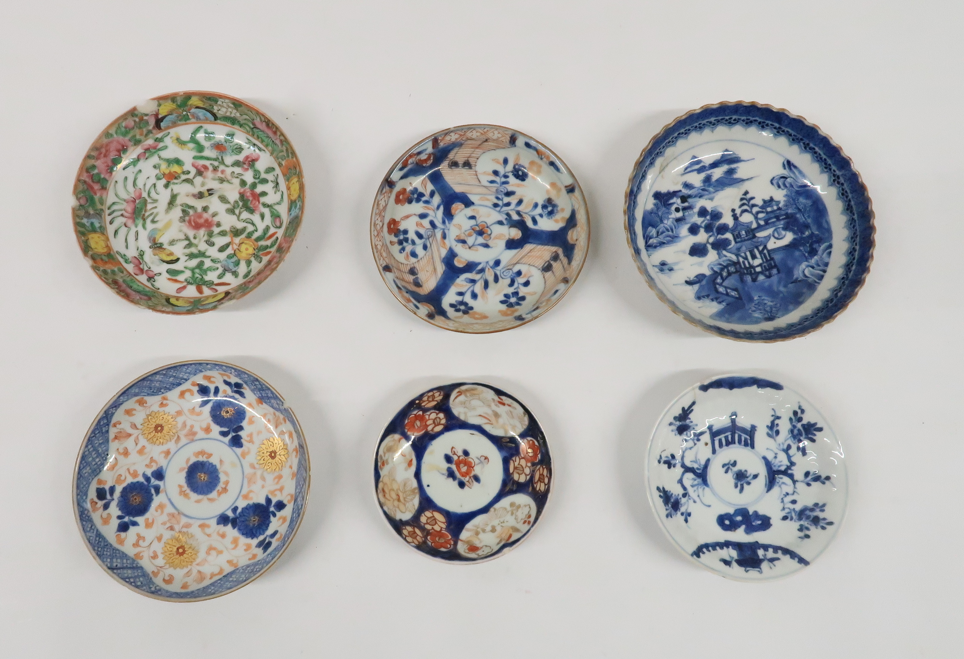 A COLLECTION OF CHINESE EXPORT TEAWARES and others including famille rose, Chien Lung, blue and - Image 16 of 22