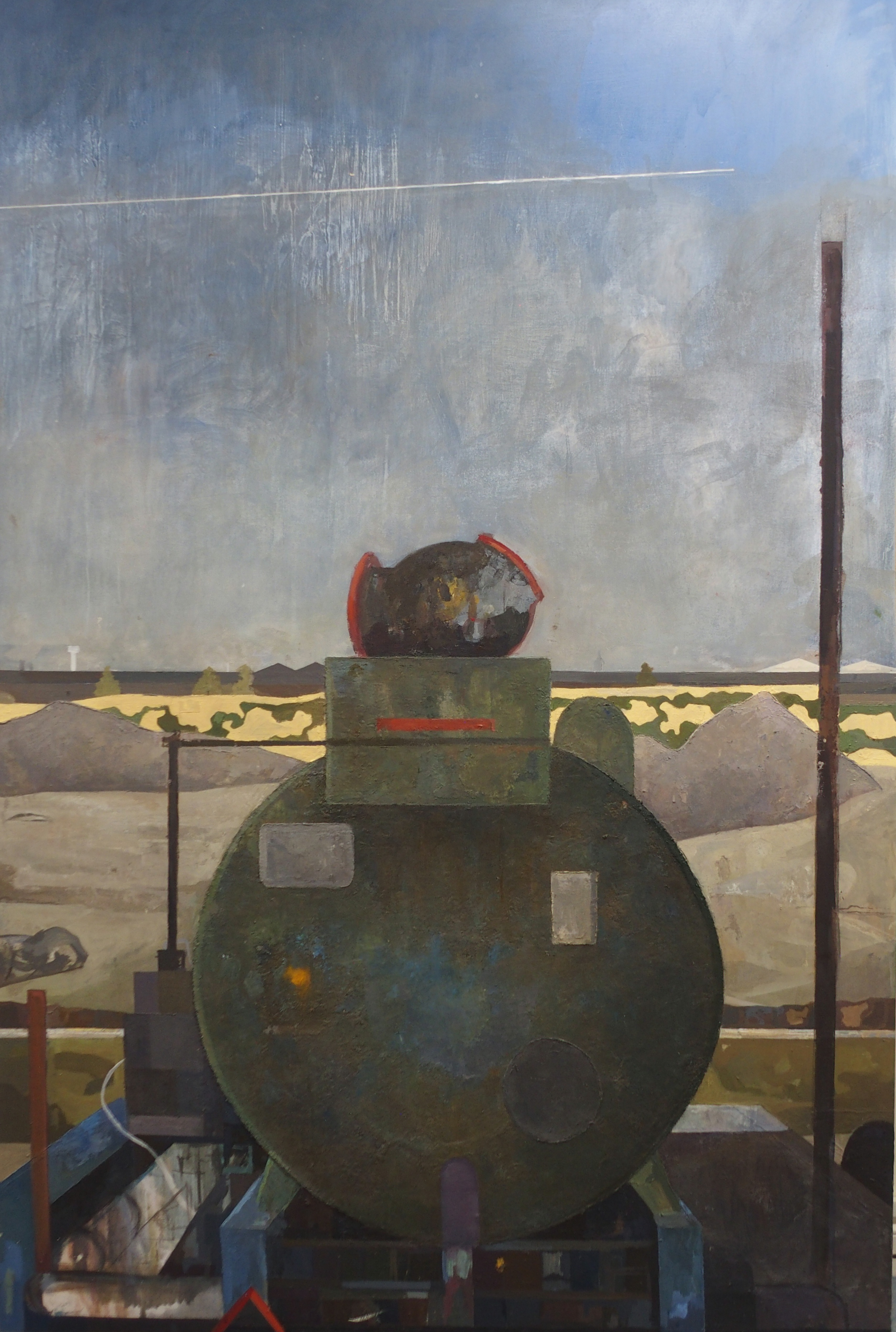 "•SEAN AMBROSE (SCOTTISH B. 1986) GENERATOR Oil on panel board, 183 x 122cm (72 x 48"") Exh. RSA 2010,"