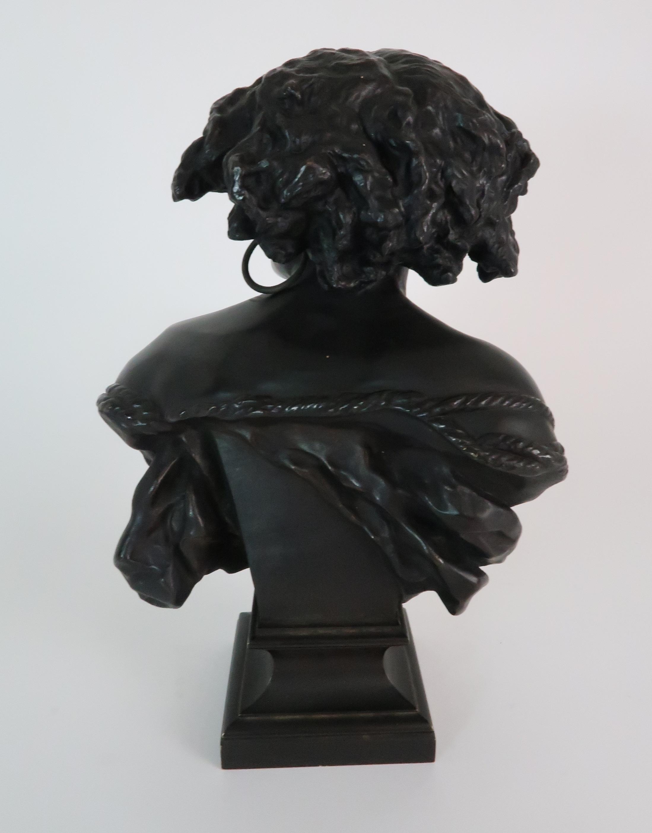 AFTER JEAN-BAPTISTE CARPEAUX (FRENCH 1827-1875) - POUR QUOINAITRE ESCLAVE a bronze bust of a - Image 3 of 7