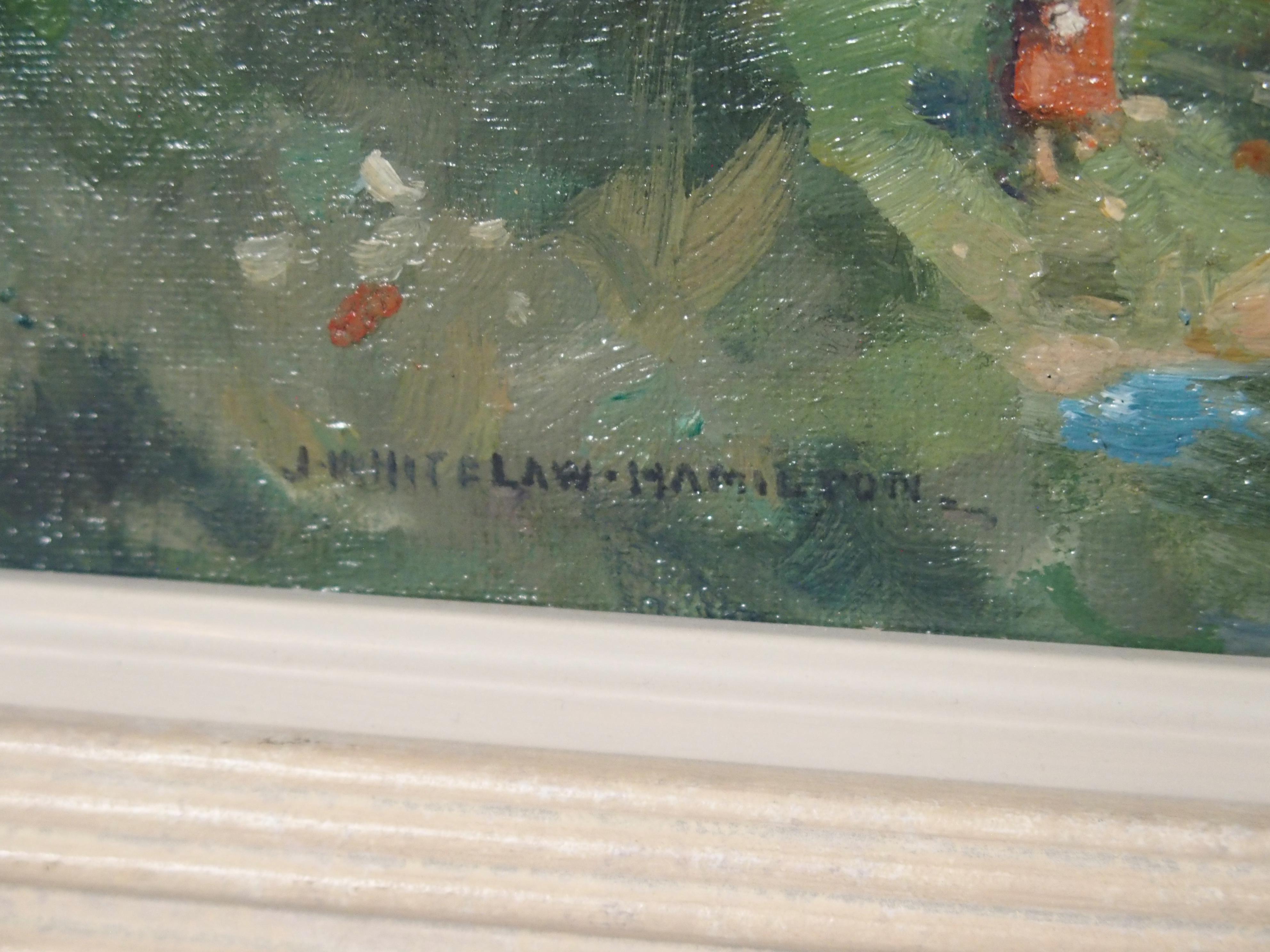 JAMES WHITELAW HAMILTON RSA, RSW (SCOTTISH 1860-1932) SUMMERTIME Oil on canvas board, signed, 23,5 x - Image 3 of 4