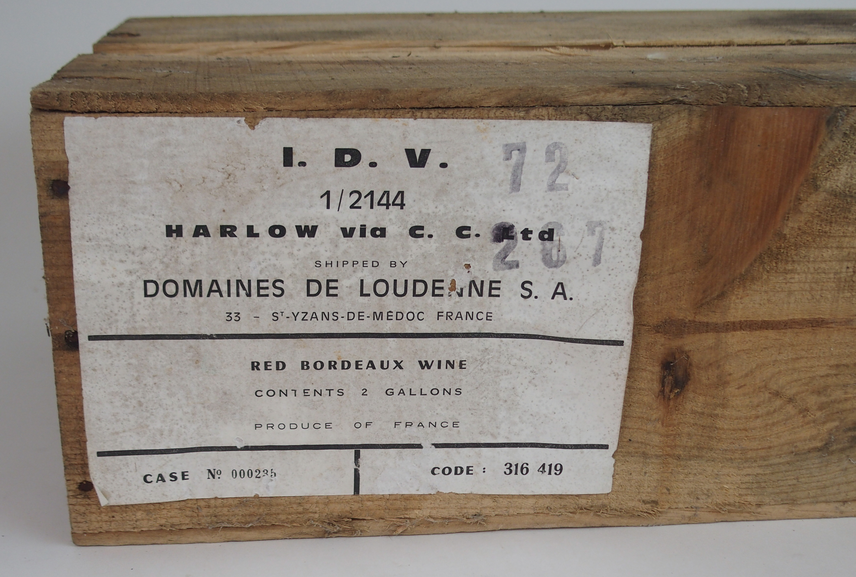A CASE OF CHATEAU BRANAIRE DULUC DUCRU, ST. JULIEN, 1969 in wooden case Condition Report: - Image 3 of 5
