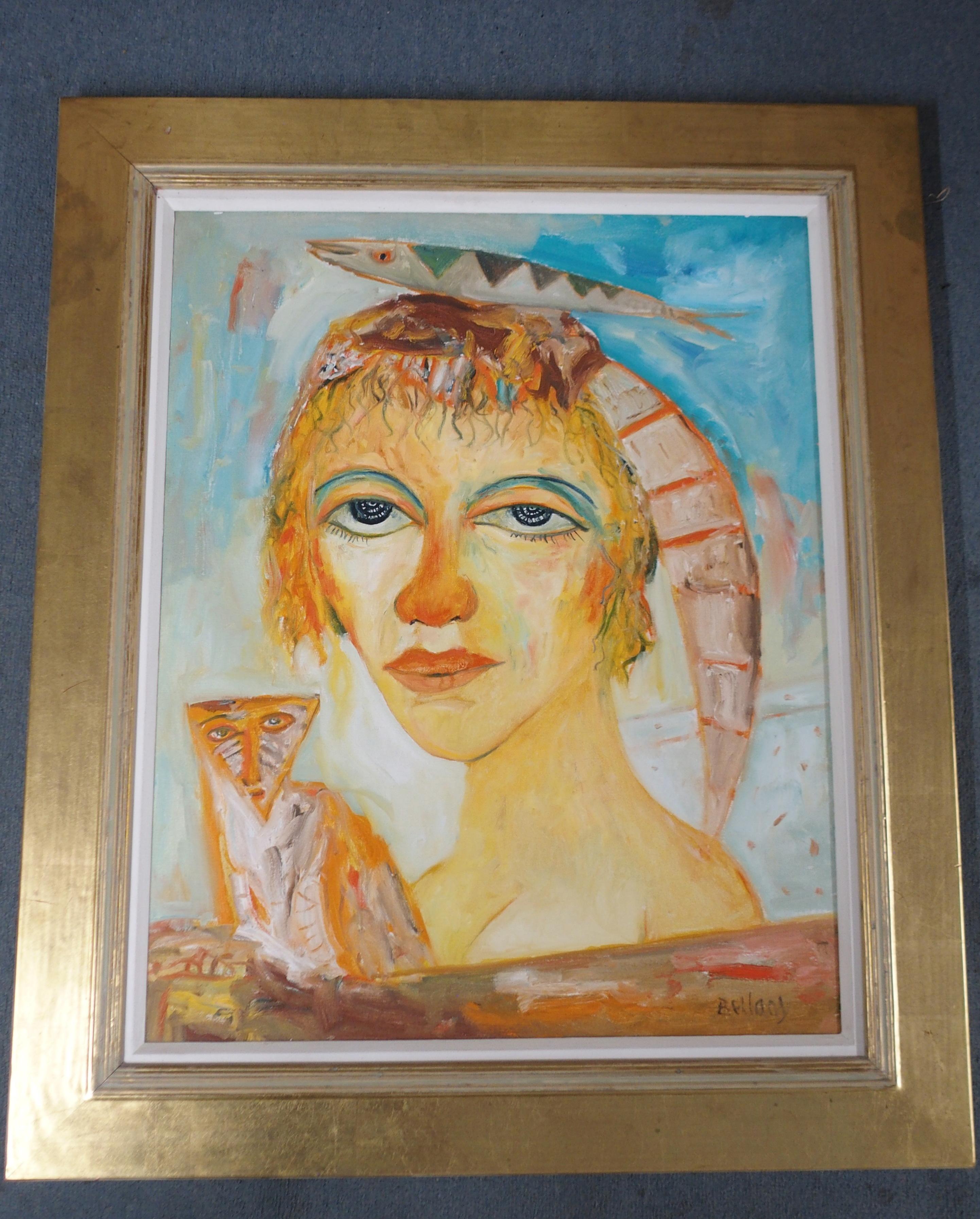 •JOHN BELLANY CBE, RA, HRSA, LLD (LON) (SCOTTISH 1942-2013) A SCOTTISH BEAUTY Oil on canvas, signed, - Image 2 of 6