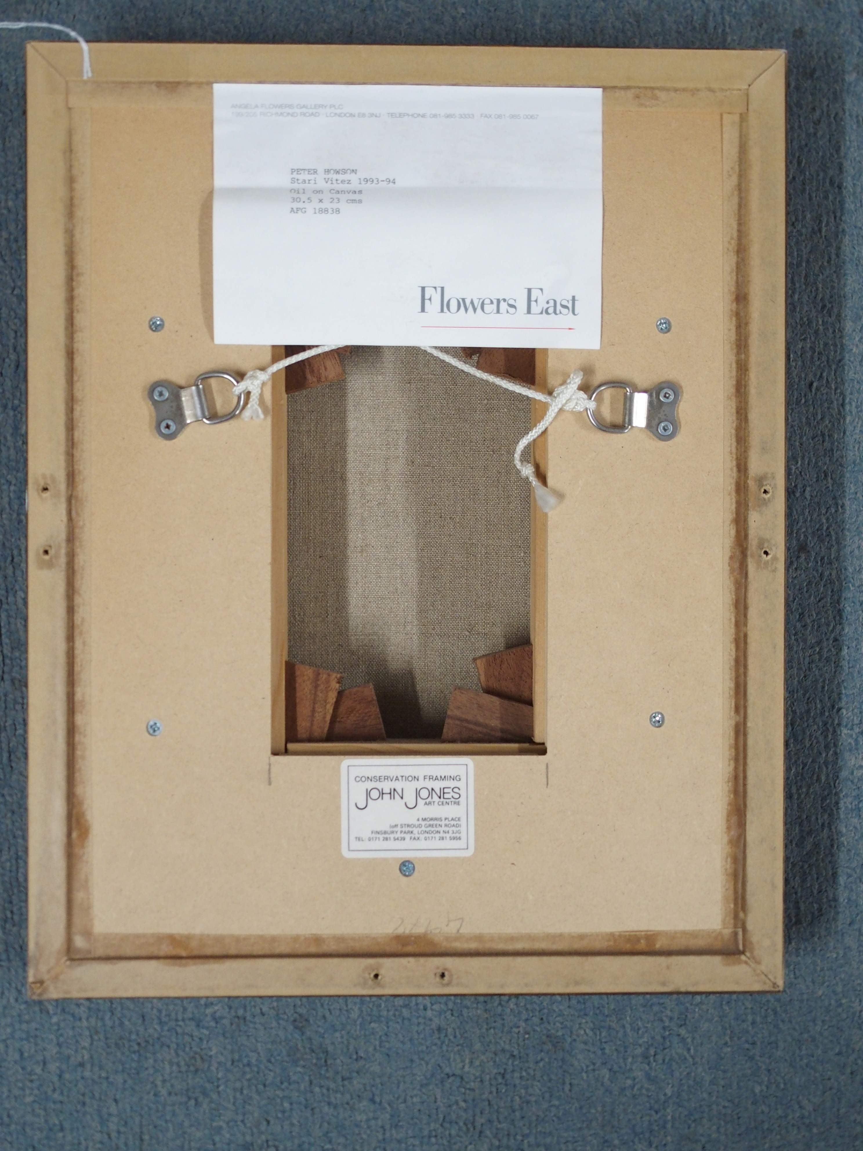 "•PETER HOWSON OBE (SCOTTISH B. 1958) STARI VITEZ Oil on canvas, 30.5 x 23cm (12 x 8 1/2"") - Image 4 of 4"