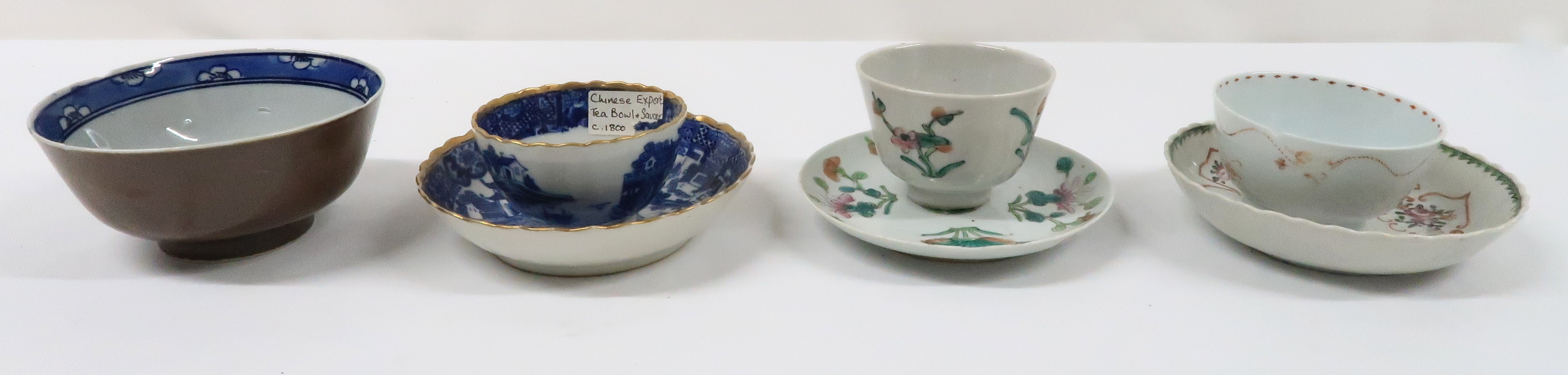 A COLLECTION OF CHINESE EXPORT TEAWARES and others including famille rose, Chien Lung, blue and - Image 17 of 22