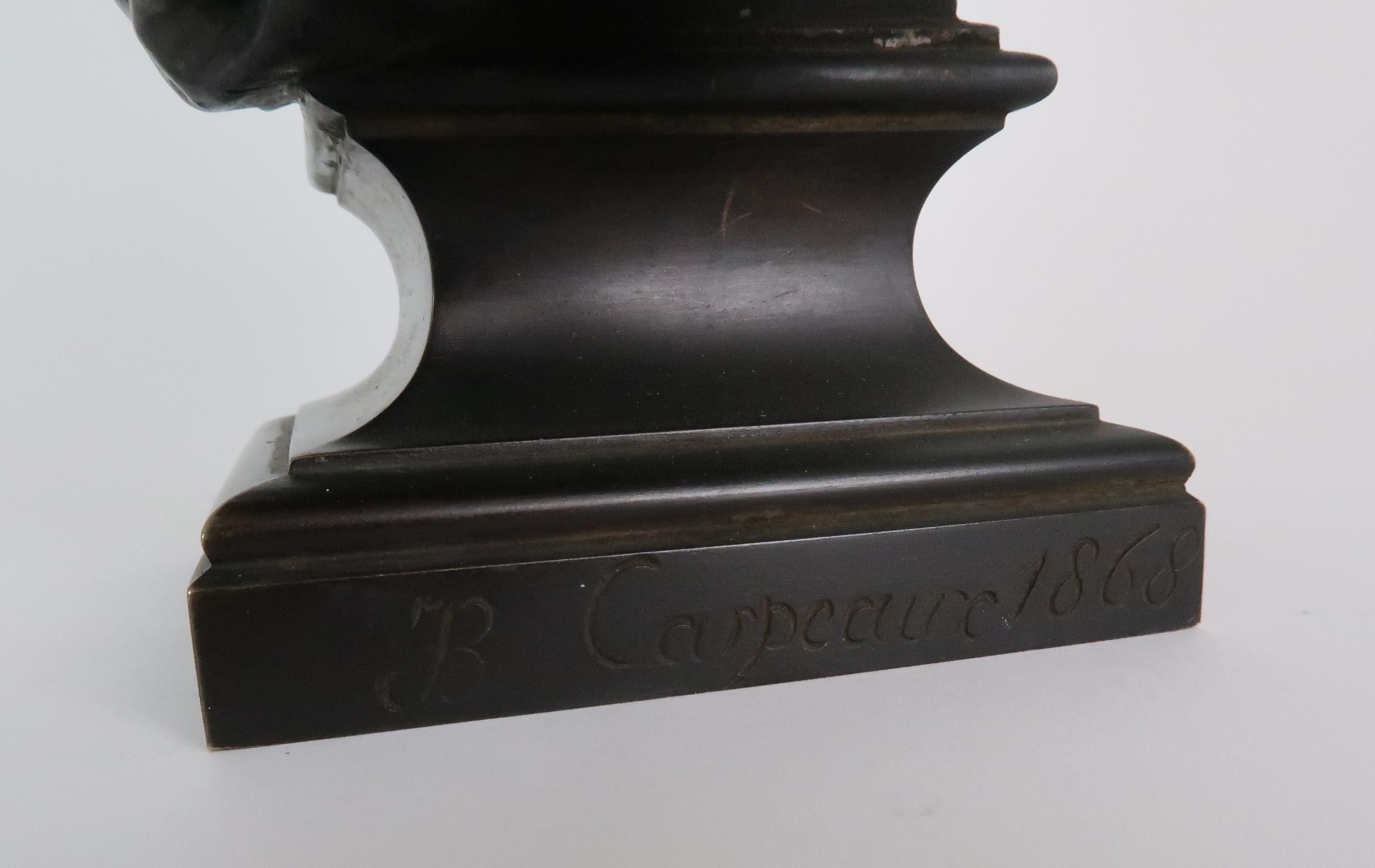 AFTER JEAN-BAPTISTE CARPEAUX (FRENCH 1827-1875) - POUR QUOINAITRE ESCLAVE a bronze bust of a - Image 6 of 7