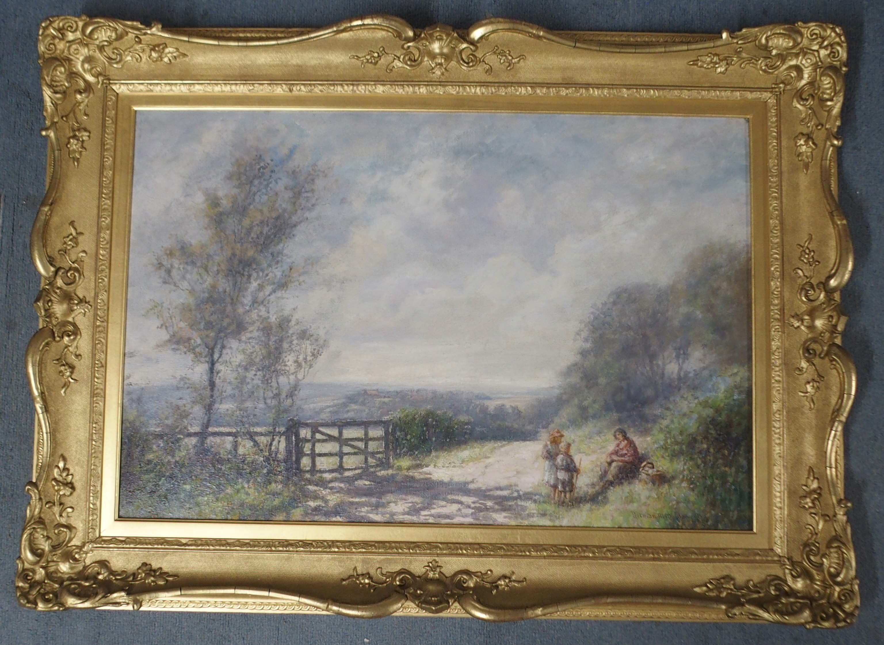 NORMAN M MACDOUGALL (SCOTTISH 1852-1939) A REST ALONG THE WAY Oil on canvas, signed, 51 x 76cm (20 x - Image 2 of 6