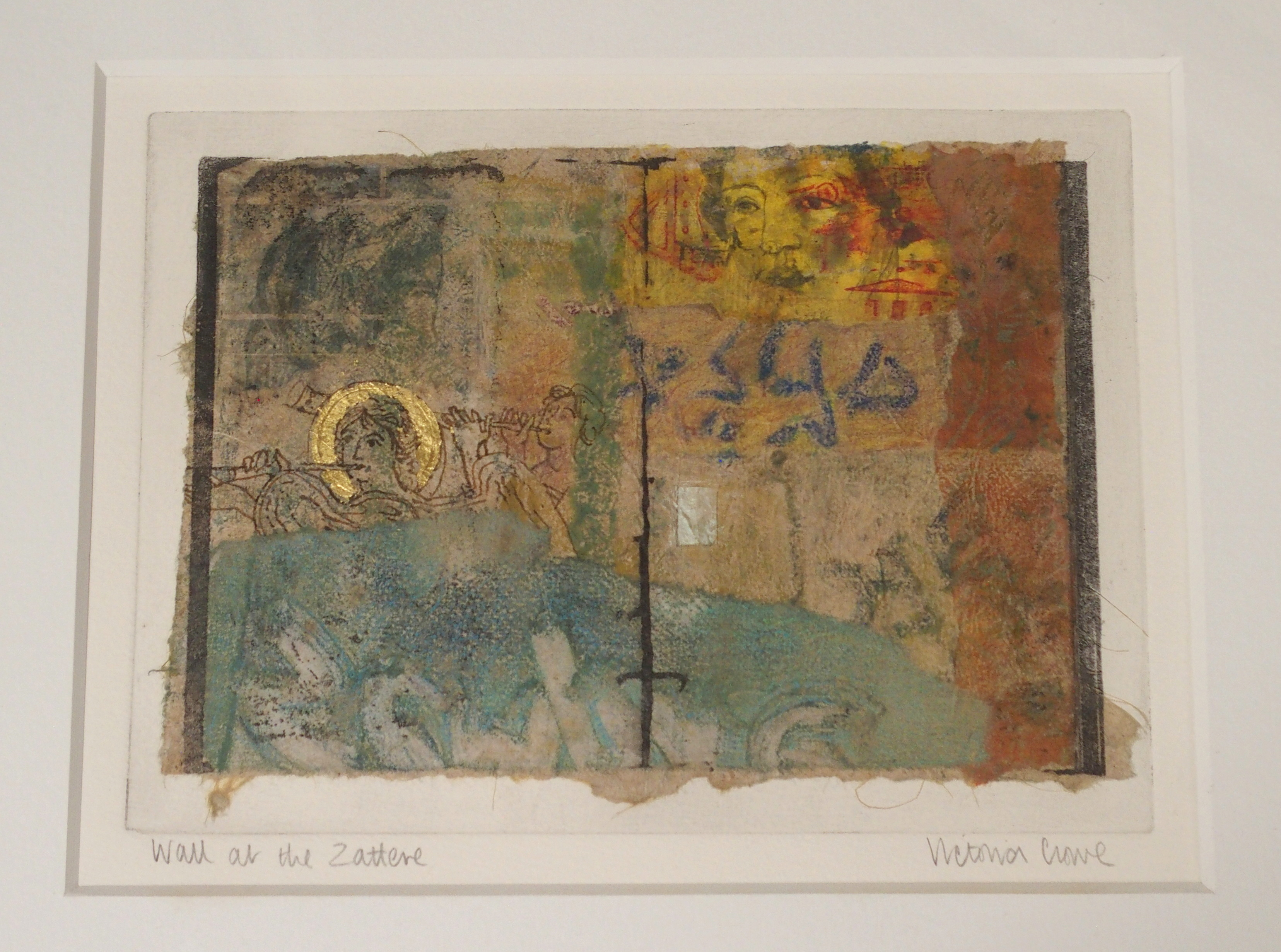 •VICTORIA CROWE OBE, RSA, RSW, FRSE (SCOTTISH B. 1945) WALL AT THE ZATTERE Mixed media on handmade