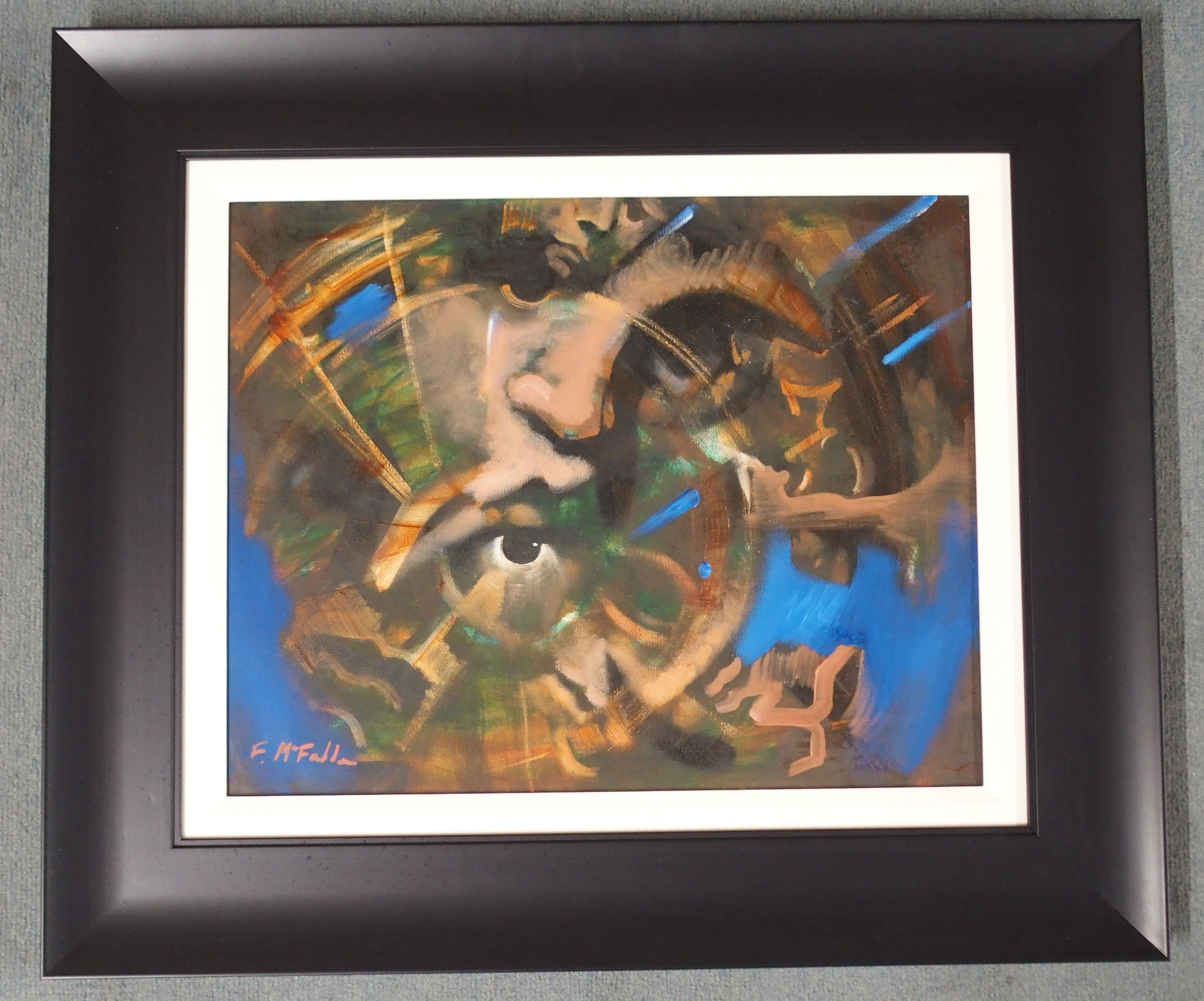 "•FRANK MCFADDEN (SCOTTISH B. 1972) VORTEX Oil on canvas, signed, 40 x 50cm (15 3/4 x 19 3/4"") - Image 2 of 7"