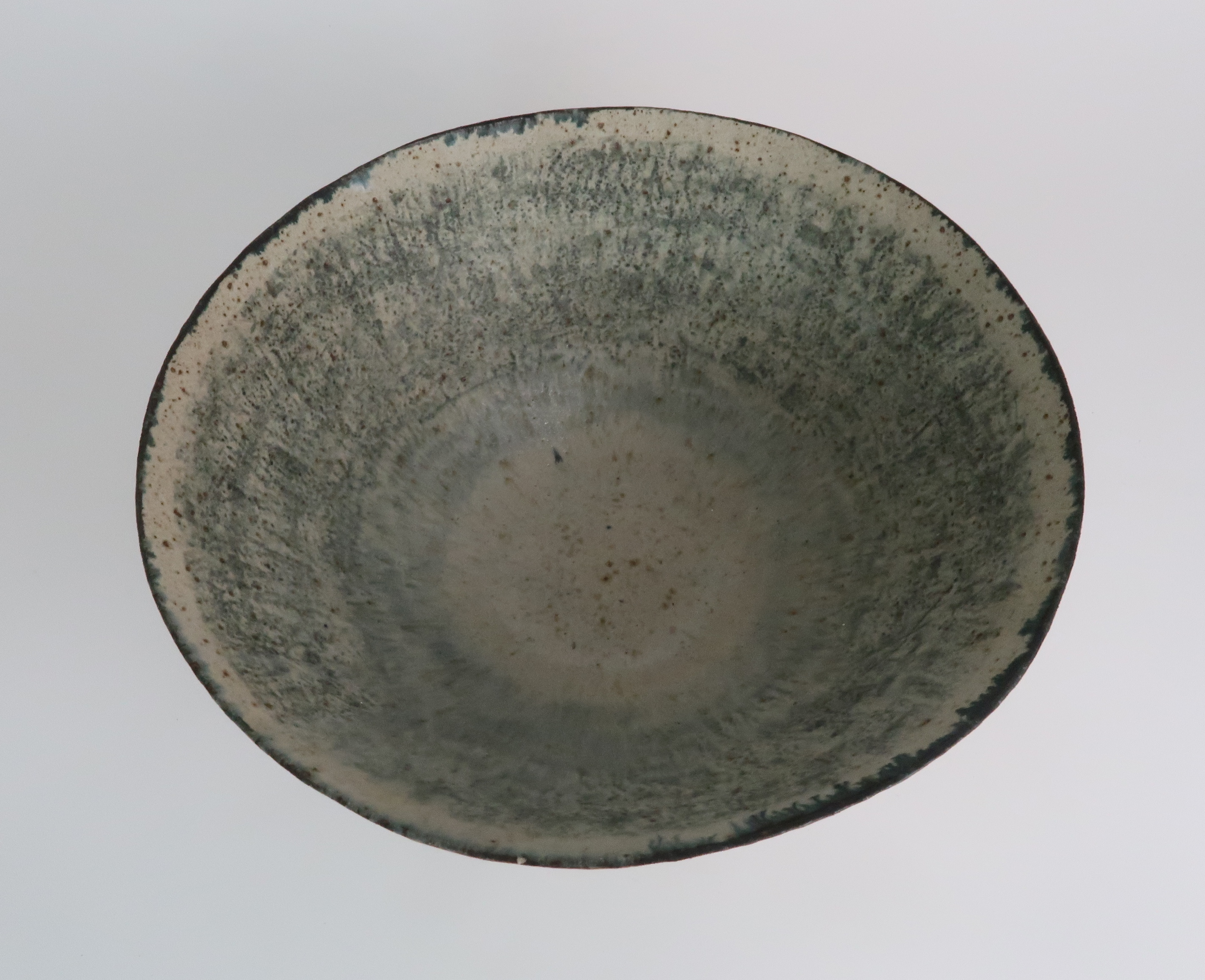 •BETTY BLANDINO (1927-2011) A stoneware bowl with slipware glaze, impressed mark to base, 32cm - Image 5 of 7