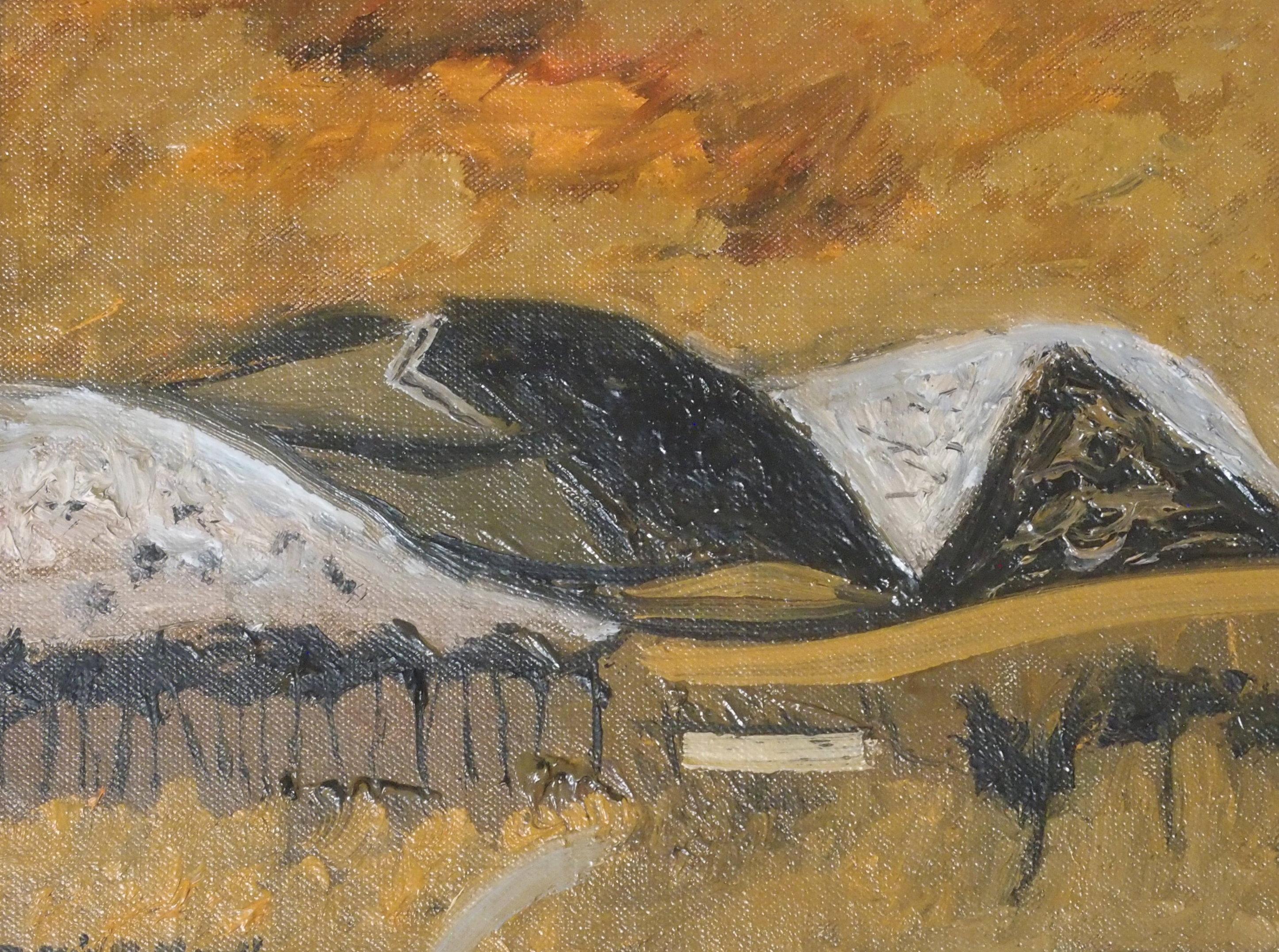 •DAVID M MARTIN RSW, RGI (SCOTTISH 1922-2018) BORDERS HILLSIDE Oil on canvas board, signed, 14 x