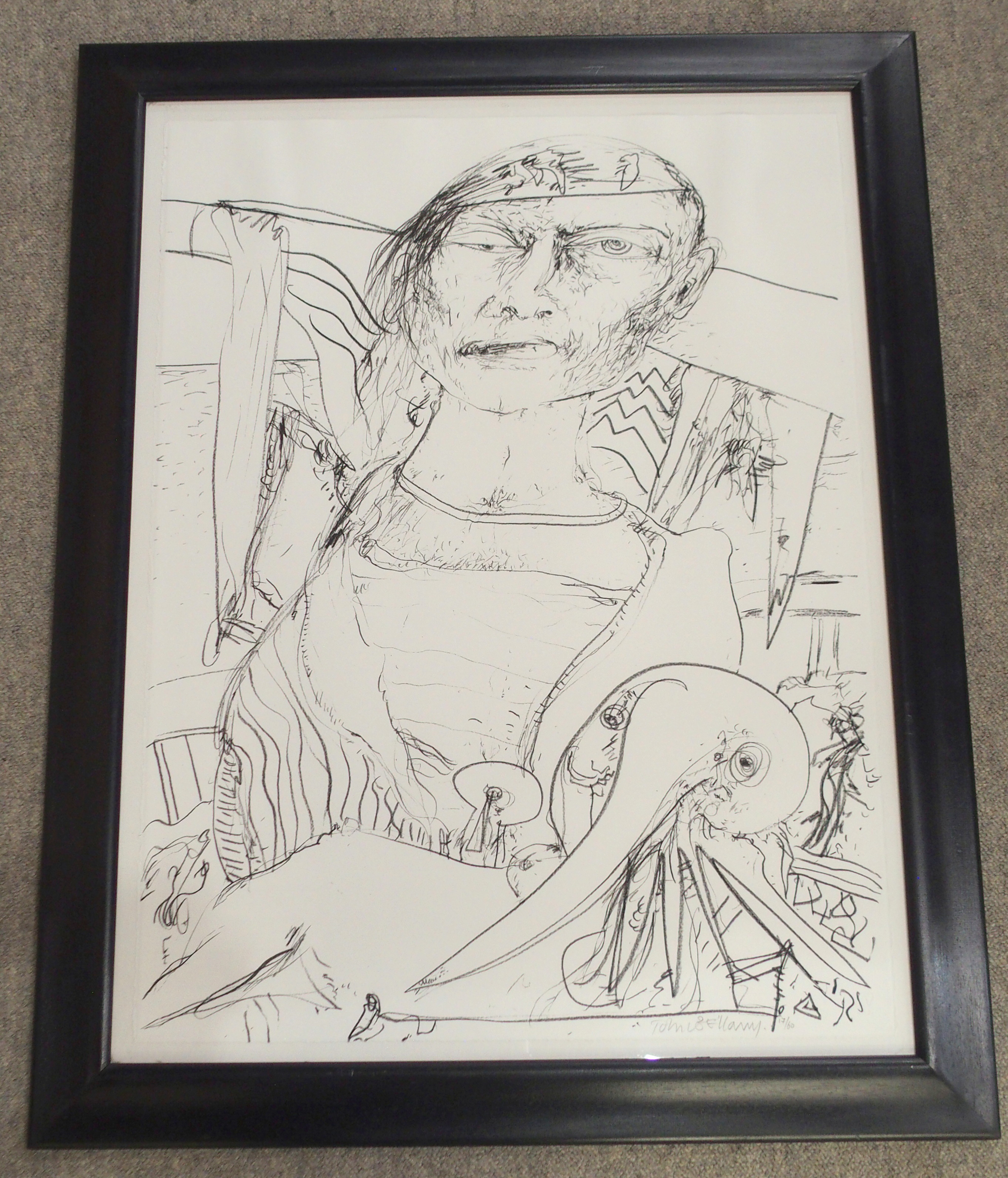 •JOHN BELLANY CBE, RA, HRSA, LLD (LON) (SCOTTISH 1942-2013) OLD MAN AND THE SEA Lithograph on paper, - Image 2 of 3