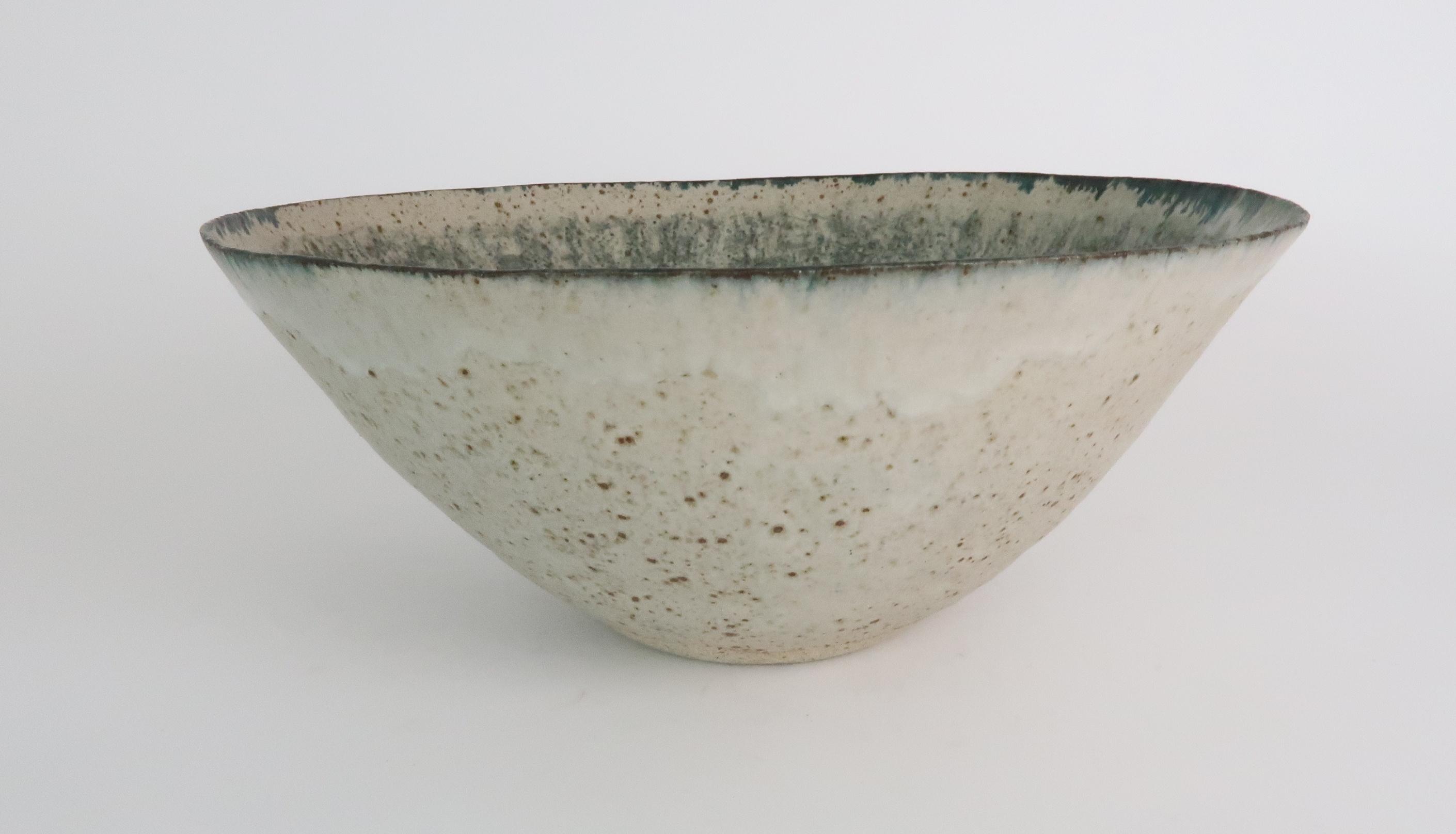 •BETTY BLANDINO (1927-2011) A stoneware bowl with slipware glaze, impressed mark to base, 32cm - Image 3 of 7