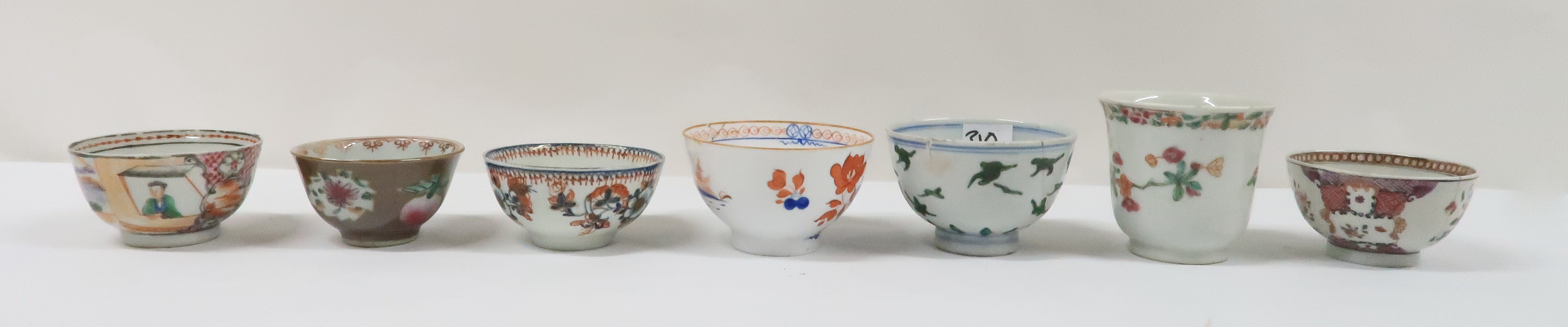 A COLLECTION OF CHINESE EXPORT TEAWARES and others including famille rose, Chien Lung, blue and - Image 5 of 22
