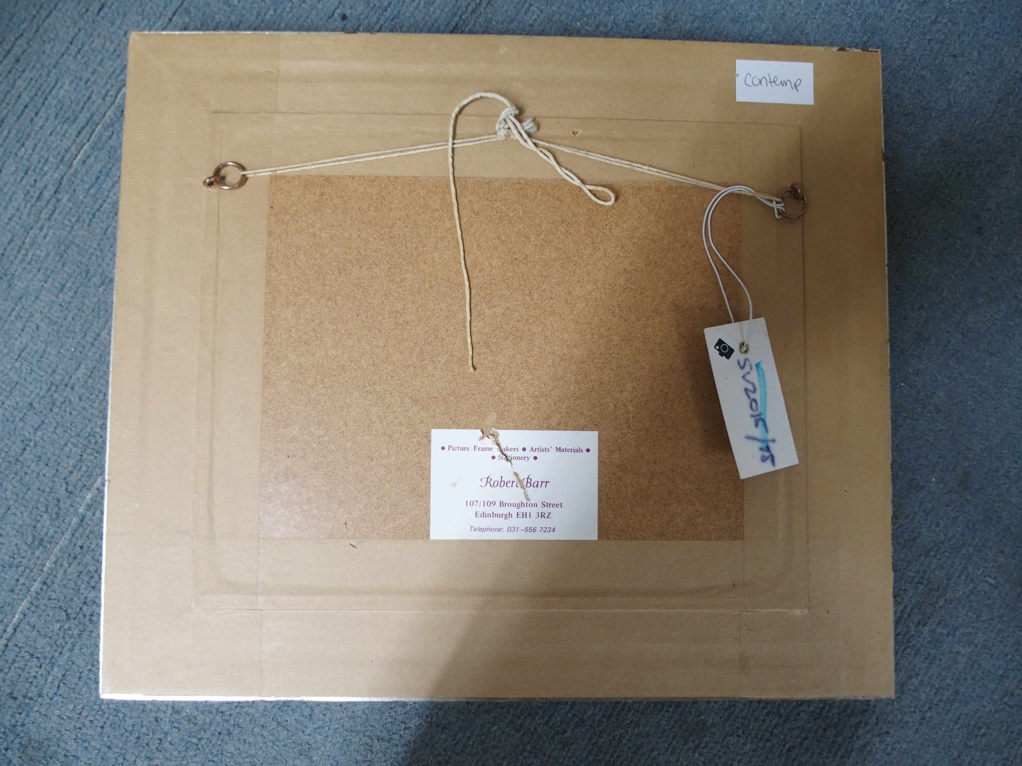 "•SCOTTISH SCHOOL (20TH CENTURY) MALE PORTRAIT HEAD STUDY Oil on panel, 20 x 25cm (8 x 9 3/4"") - Image 4 of 4"