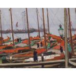 JAMES HAMILTON MACKENZIE ARSA, RSW, ARE (SCOTTISH 1875-1926) AN OFF DAY: VOLENDAM Oil on panel,