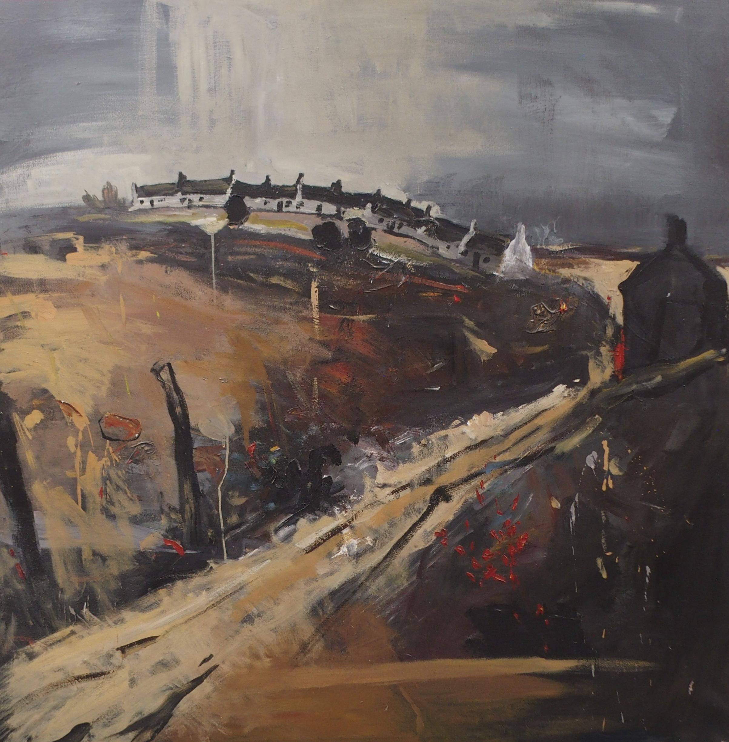"SCOTTISH SCHOOL (20TH CENTURY) CATTERLINE IN AUTUMN Oil on canvas, 152 x 152cm (60 x 60"") - Image 3 of 3"