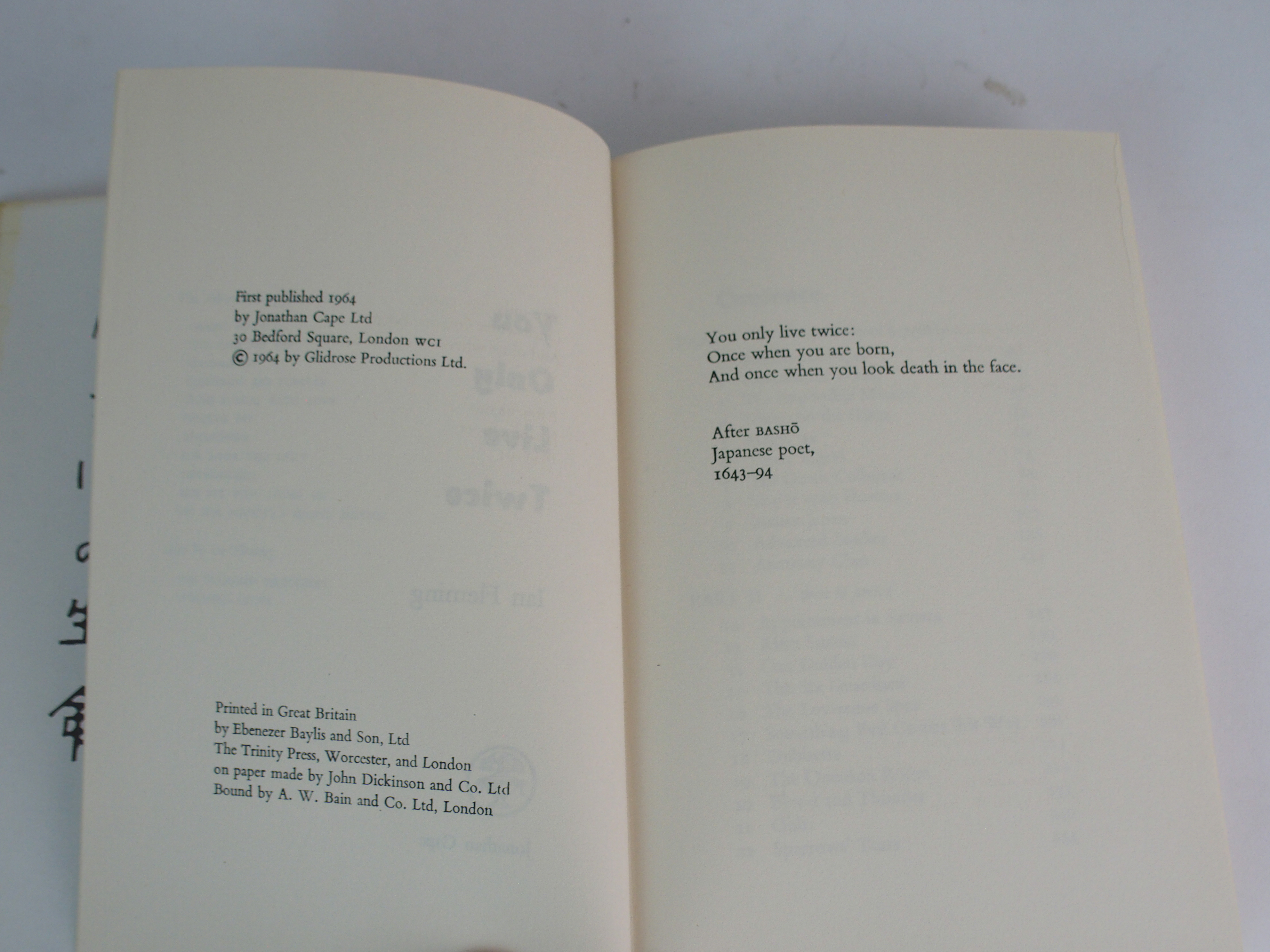 IAN FLEMING 'YOU ONLY LIVE TWICE' 1st edition 1964, unclipped with original dust jacket, published - Image 5 of 5