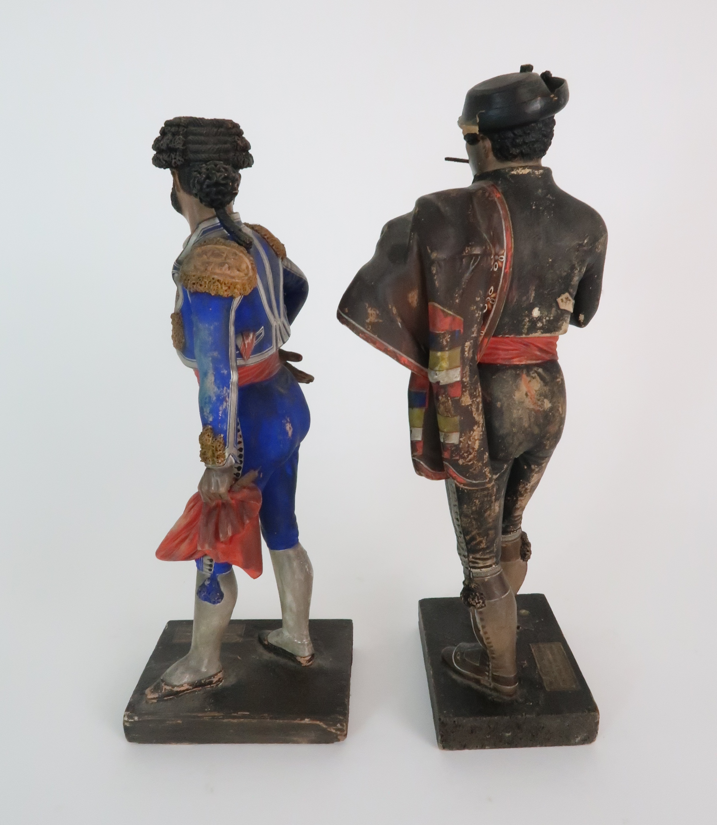 JOSE CUBERO, MALAGA - A PAIR OF MID 19TH CENTURY COLD PAINTED TERRACOTTA FIGURES one a matador, - Image 3 of 8