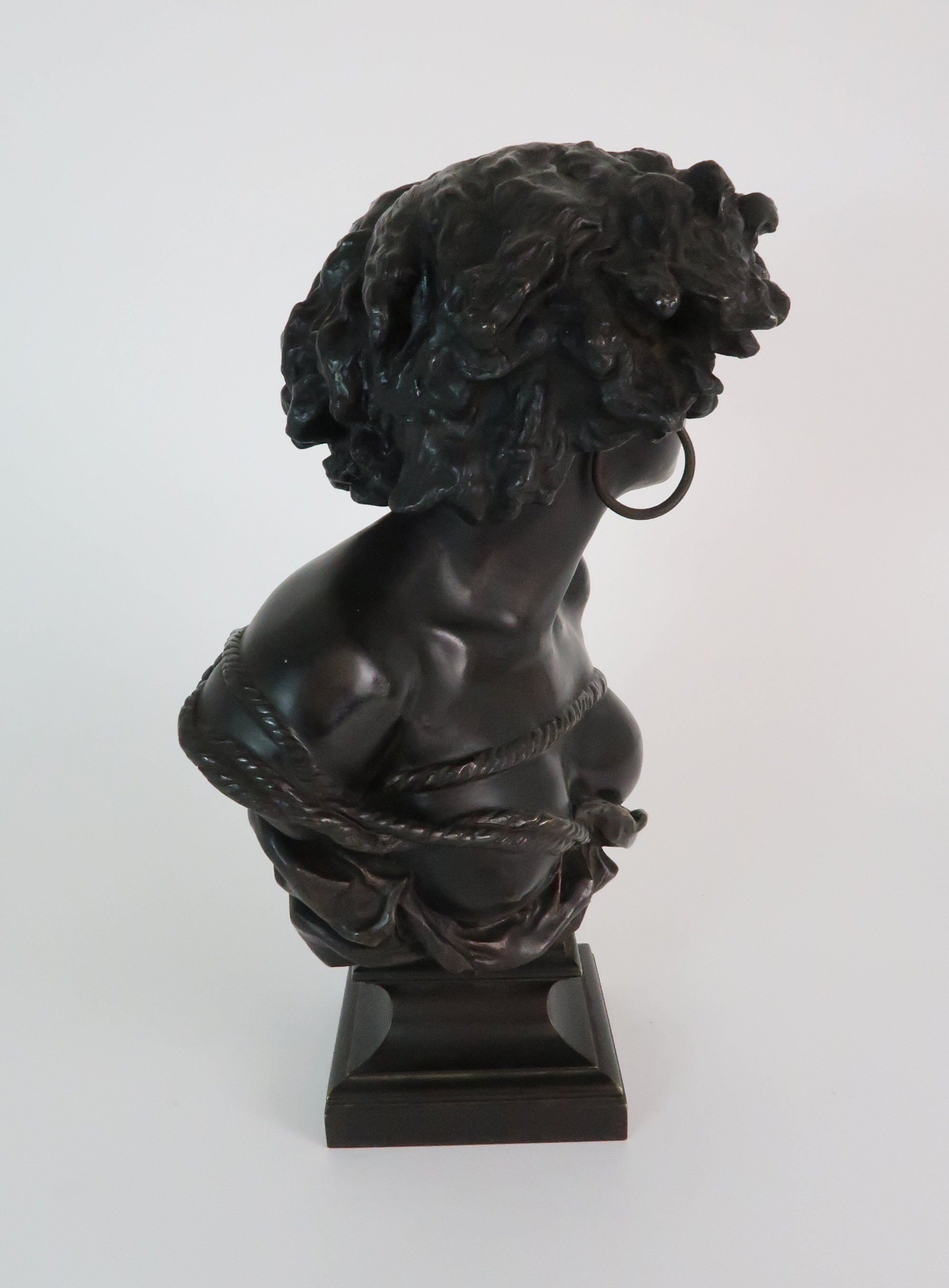 AFTER JEAN-BAPTISTE CARPEAUX (FRENCH 1827-1875) - POUR QUOINAITRE ESCLAVE a bronze bust of a - Image 4 of 7