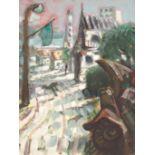 "•PETER HOWSON OBE (SCOTTISH B. 1958) STARI VITEZ Oil on canvas, 30.5 x 23cm (12 x 8 1/2"")"
