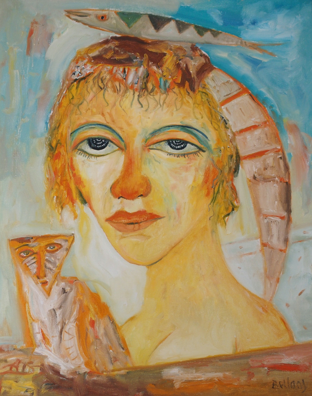 •JOHN BELLANY CBE, RA, HRSA, LLD (LON) (SCOTTISH 1942-2013) A SCOTTISH BEAUTY Oil on canvas, signed,