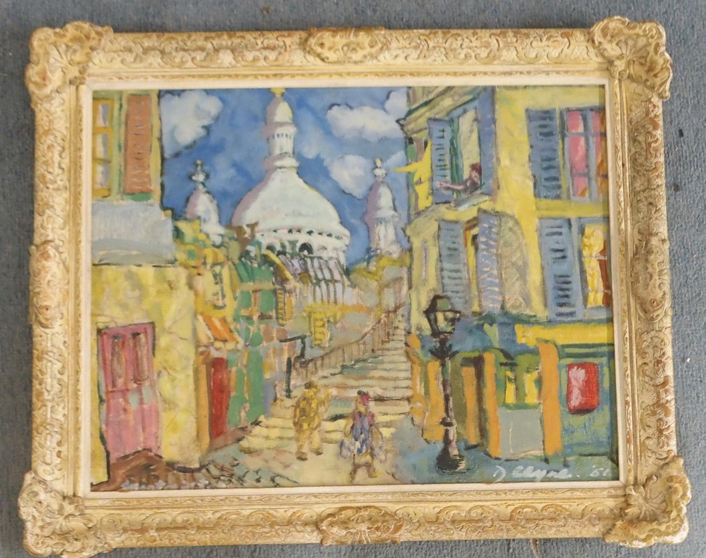 •WILLIAM DANIEL CLYNE (SCOTTISH 1922-1981) A CORNER IN OLD MONTMARTRE Oil on canvas board, signed - Image 2 of 4