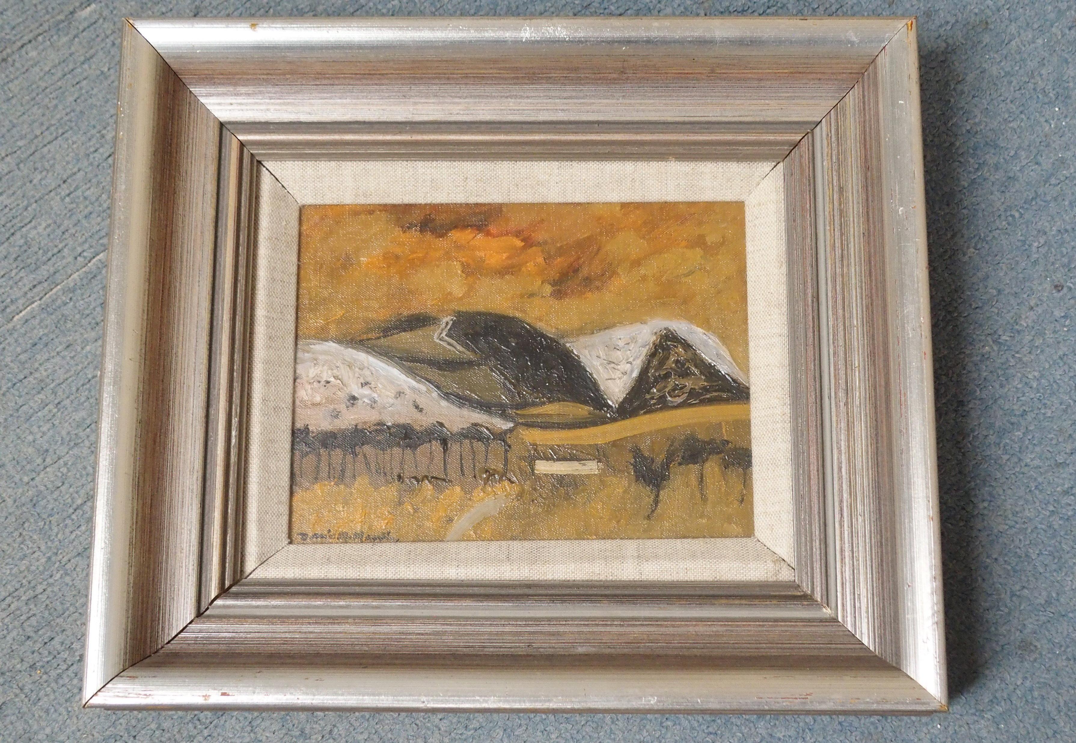 •DAVID M MARTIN RSW, RGI (SCOTTISH 1922-2018) BORDERS HILLSIDE Oil on canvas board, signed, 14 x - Image 2 of 5