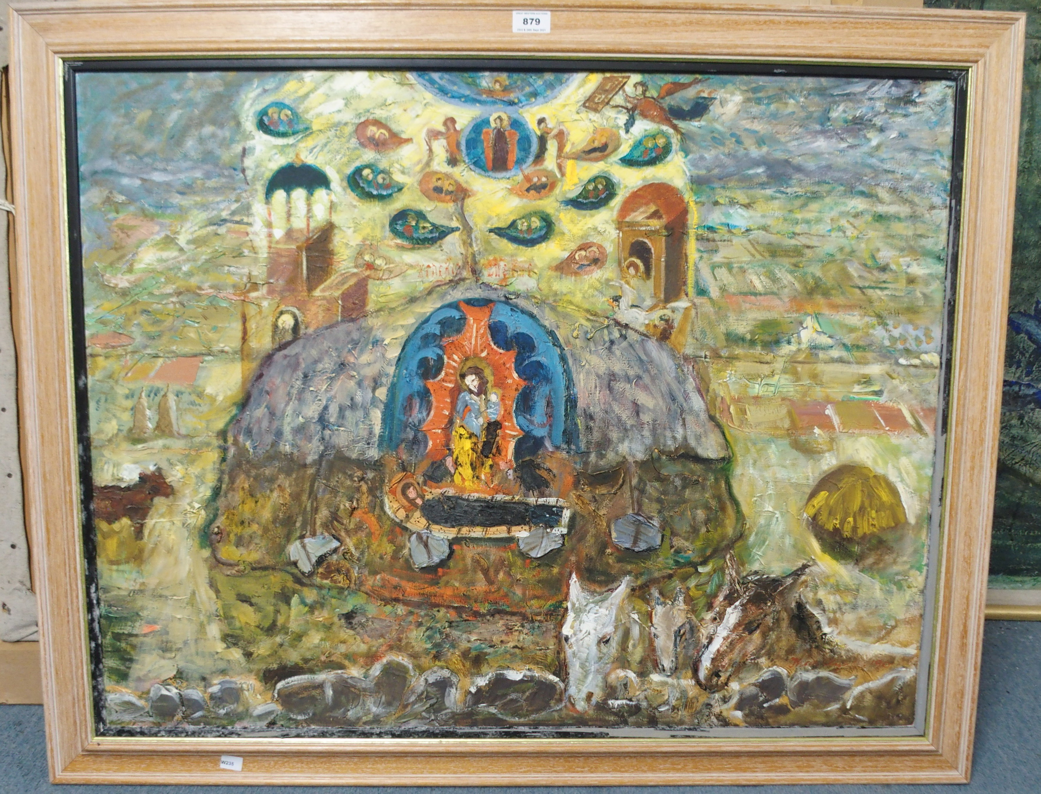THORA CLYNE SSWA (SCOTTISH 1937-2020) FIELD OF VISION Oil on canvas, signed and dated (19)90, 71 x - Image 2 of 6