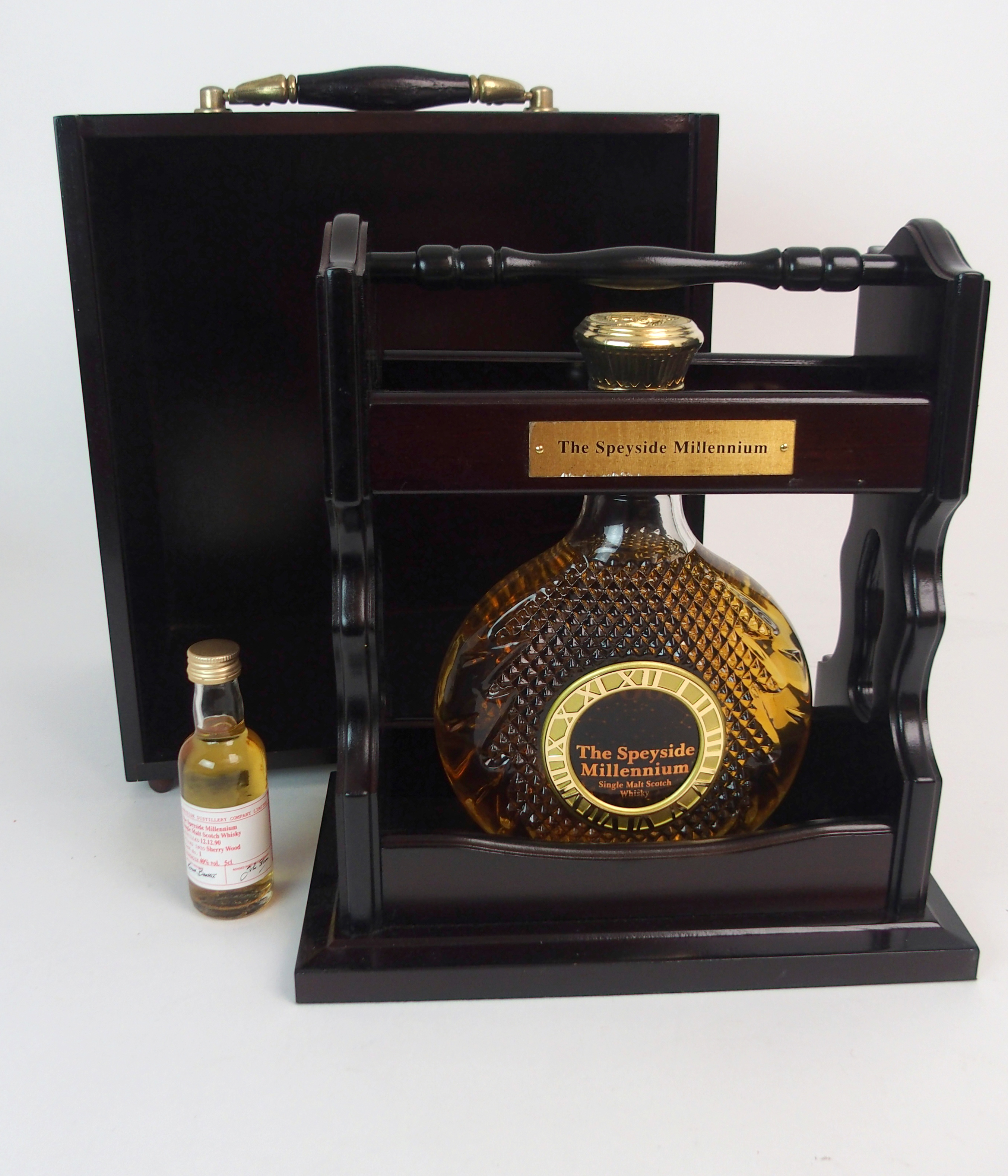 THE SPEYSIDE MILLENIUM SINGLE MALT WHISKY in Tantalus stand, with case, No. 308 with - Image 2 of 5