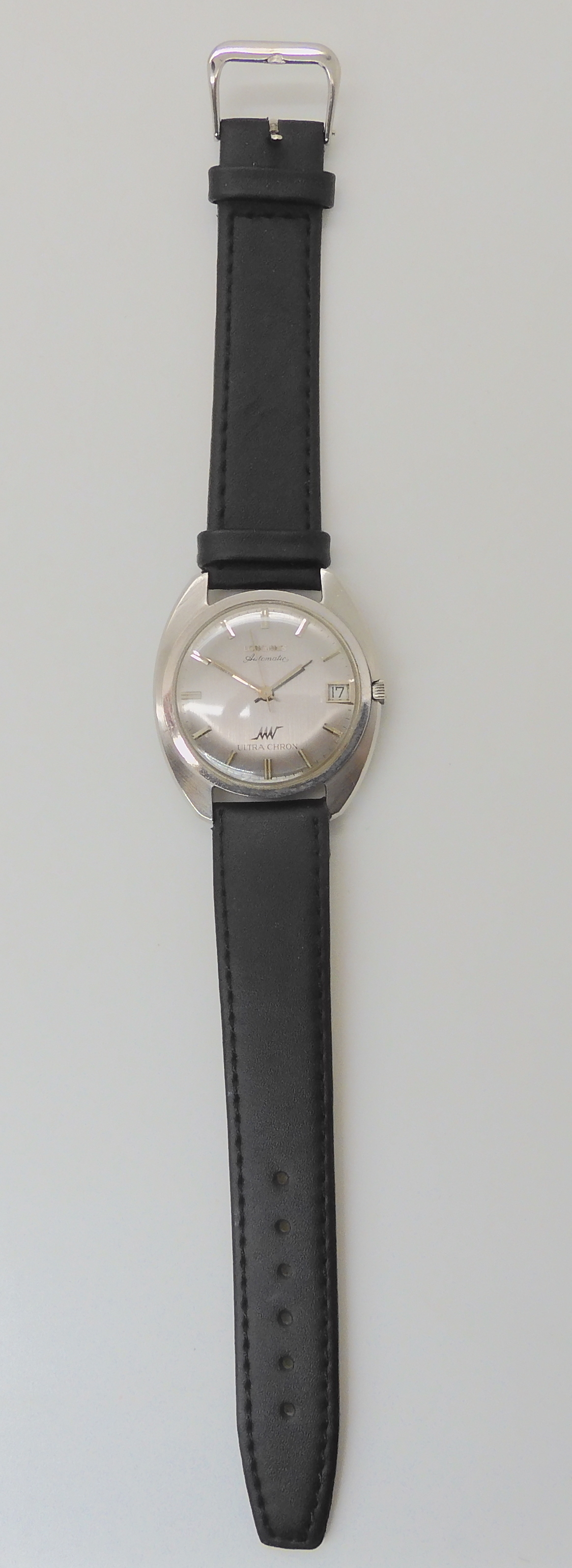 A GENTS LONGINES AUTOMATIC ULTRA CHRON with brushed silvered dial silver coloured numerals, hands - Image 3 of 4
