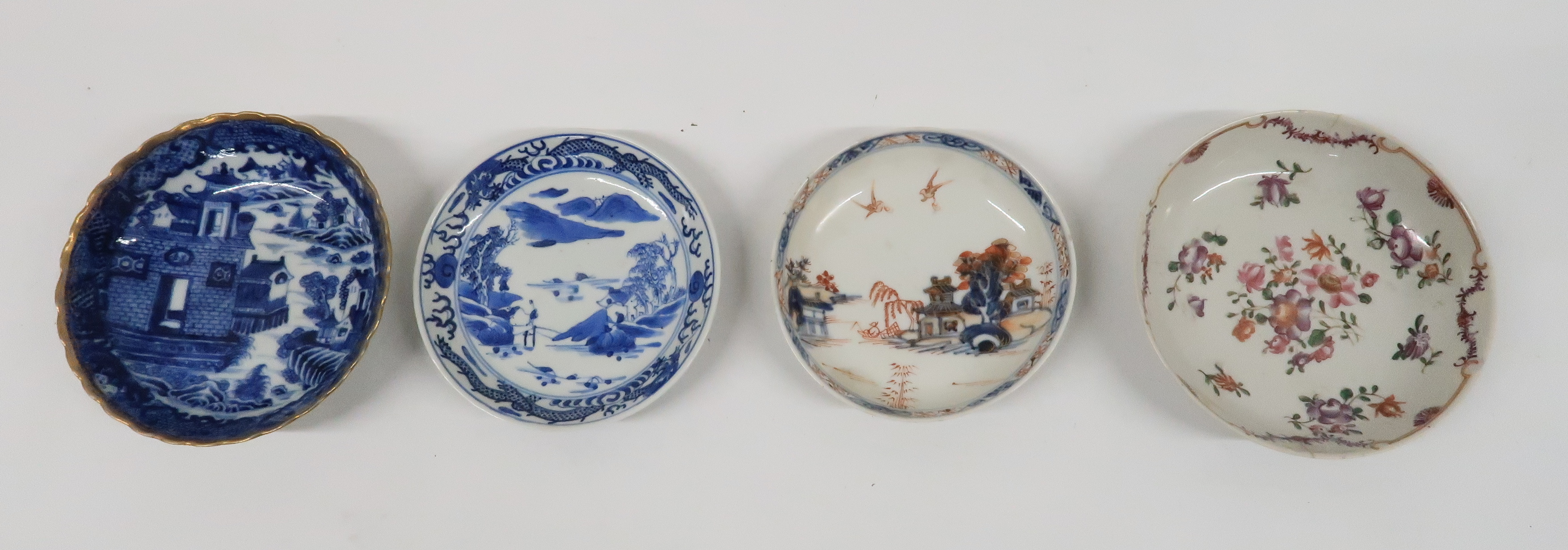 A COLLECTION OF CHINESE EXPORT TEAWARES and others including famille rose, Chien Lung, blue and - Image 15 of 22