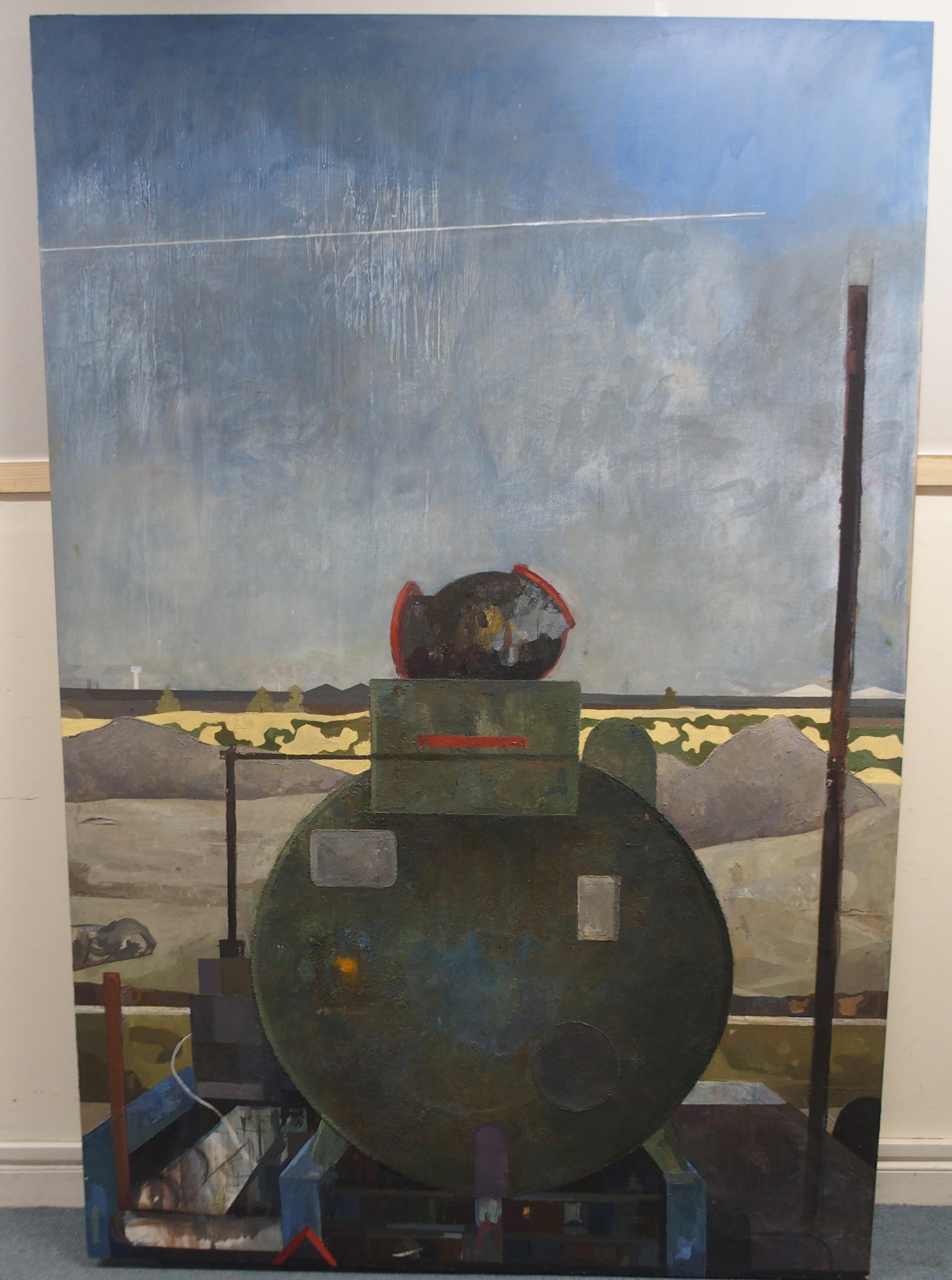 "•SEAN AMBROSE (SCOTTISH B. 1986) GENERATOR Oil on panel board, 183 x 122cm (72 x 48"") Exh. RSA 2010, - Image 2 of 3"