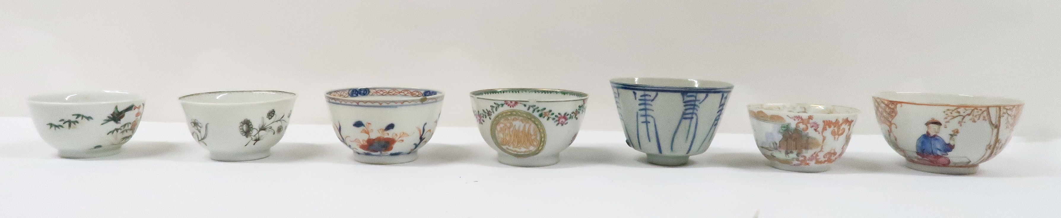 A COLLECTION OF CHINESE EXPORT TEAWARES and others including famille rose, Chien Lung, blue and - Image 2 of 22