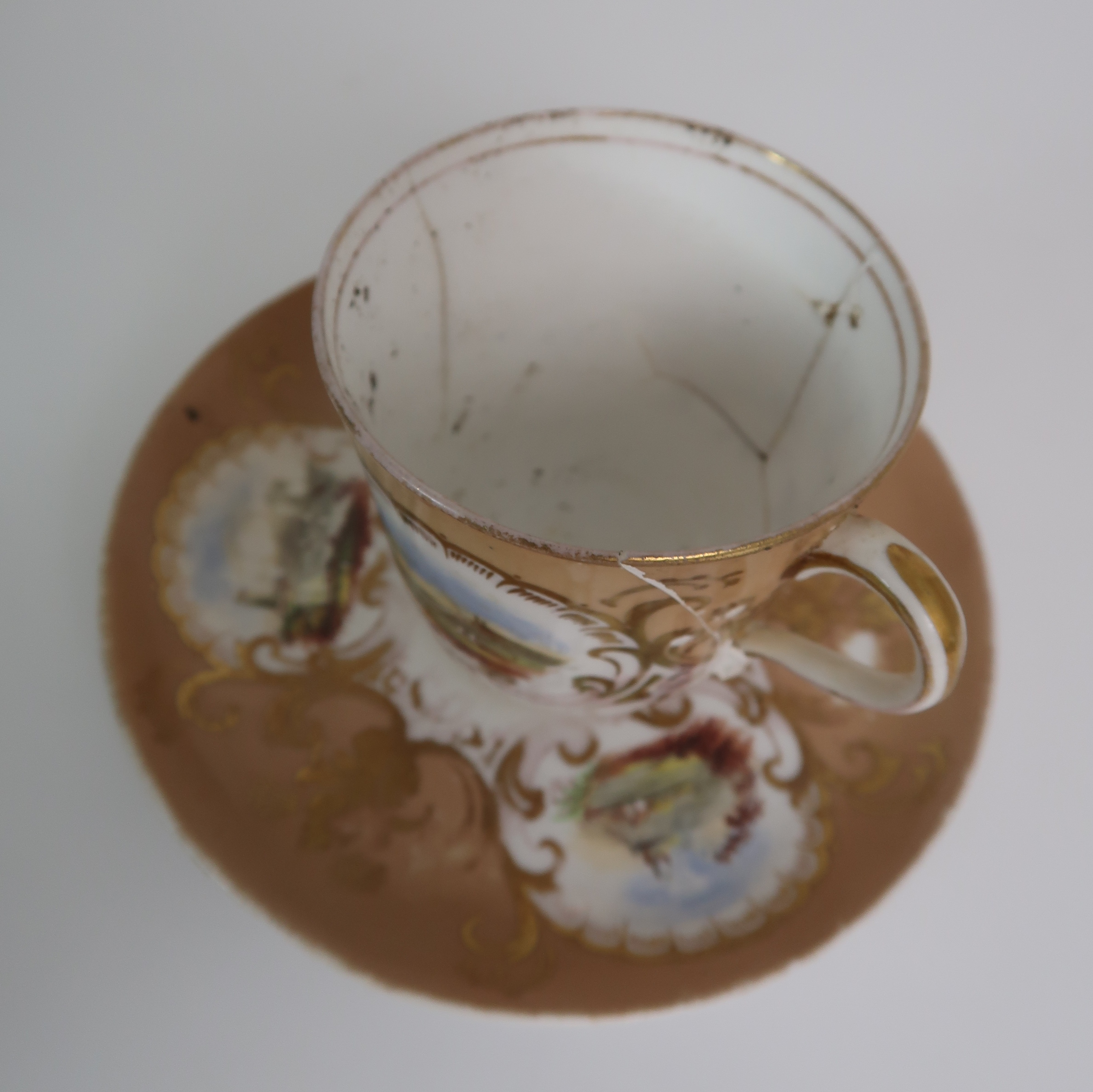 A COLLECTION OF 19TH CENTURY ENGLISH TEA AND COFFEE WARES the white ground with either grey and gilt - Image 10 of 22