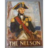PRESTON CRIBB (BRITISH 1876-1937) NELSON (PUB SIGN) Oil on canvas laid on panel, signed, 91 x