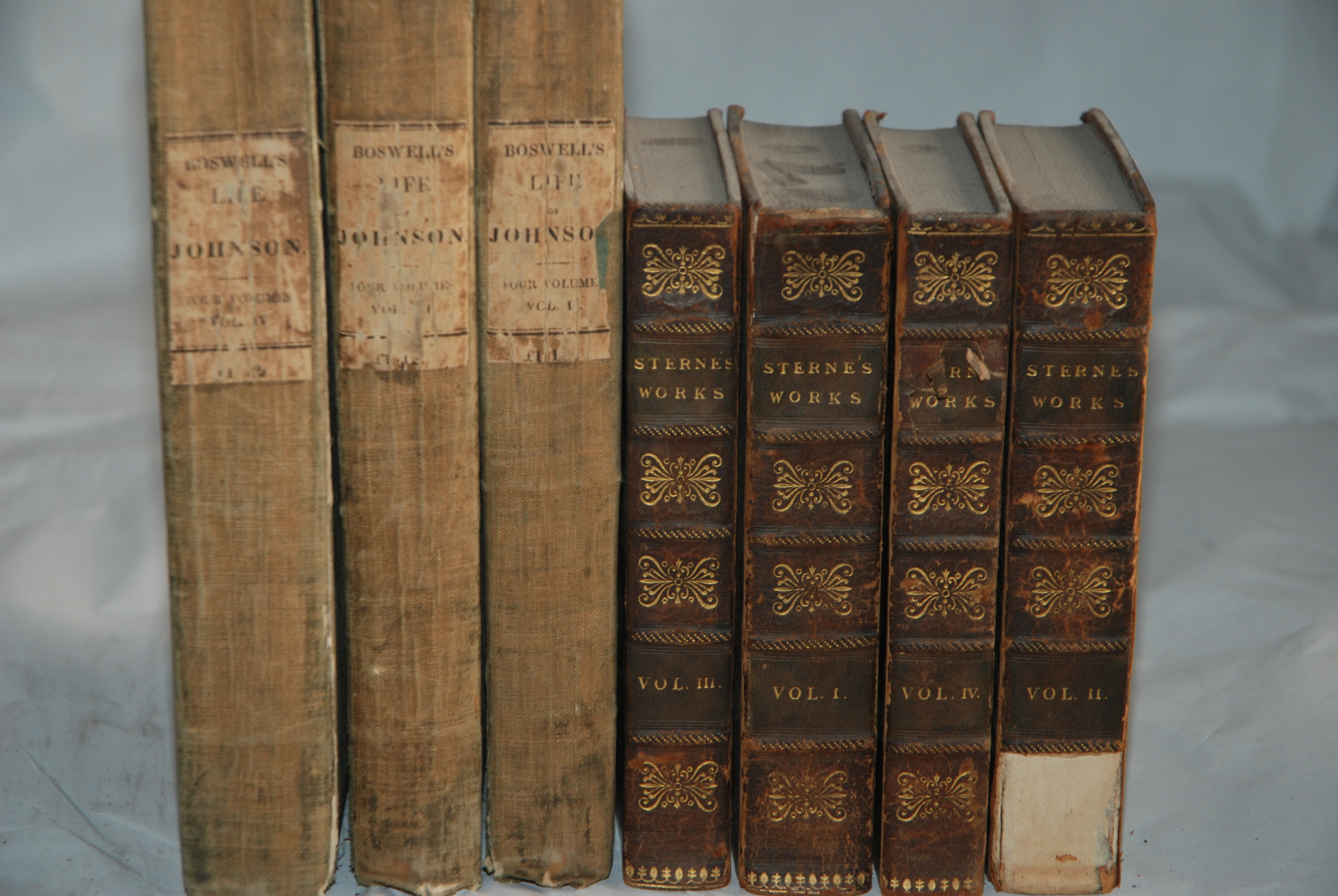 BOSWELLS LIFE OF JOHNSON 3 vols, London, 1824, The works of Henry Fielding, 9 vols, Laurence Sterna, - Image 3 of 3
