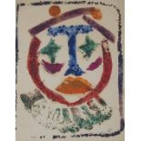 •DONALD BAIN (SCOTTISH 1904-1979) THE CLOWN colour woodblock, signed with initials, 20 x 16cm