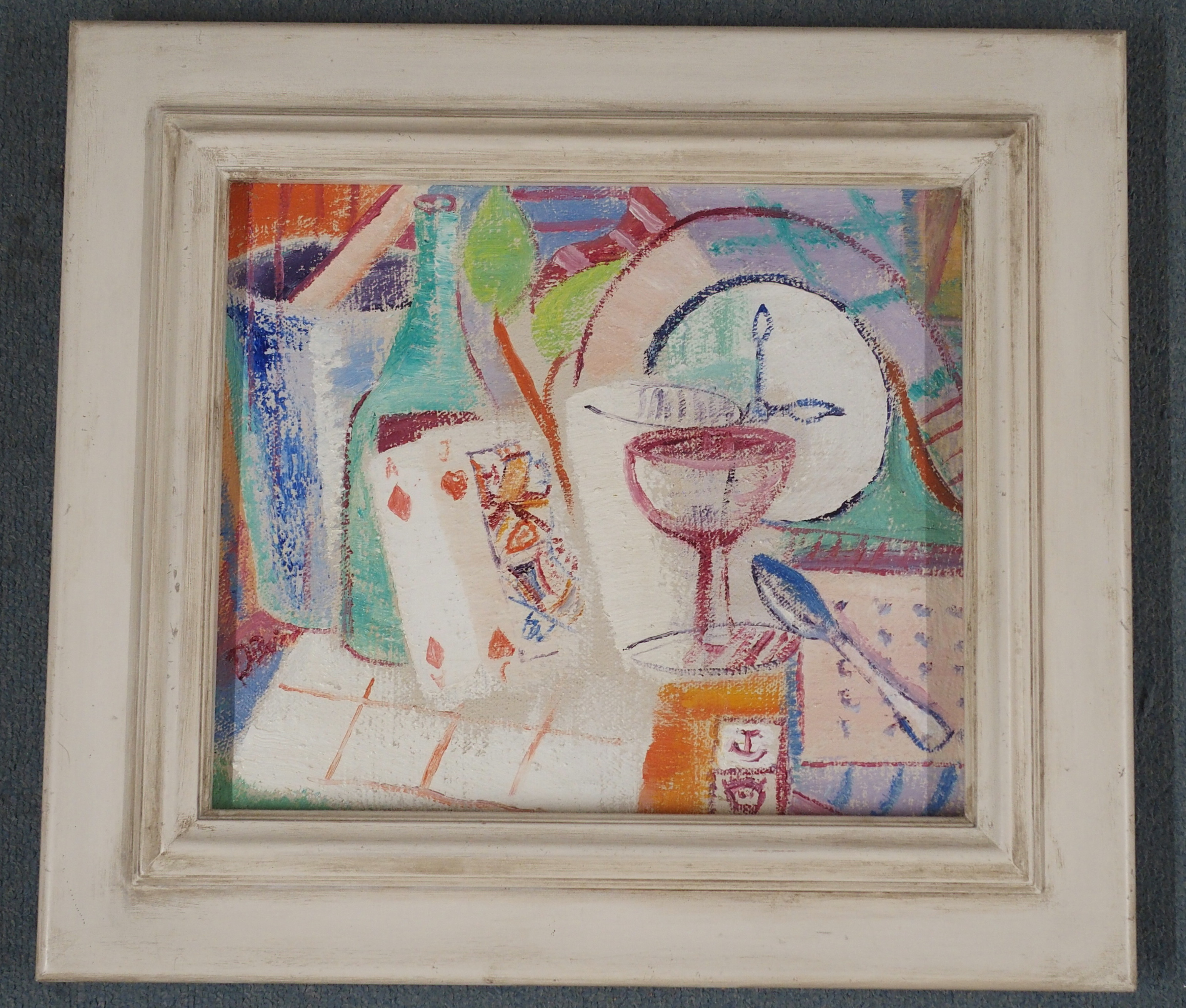 •DONALD BAIN (SCOTTISH 1904-1979) THREE AM oil on canvas, signed and signed, inscribed and dated - Image 2 of 5