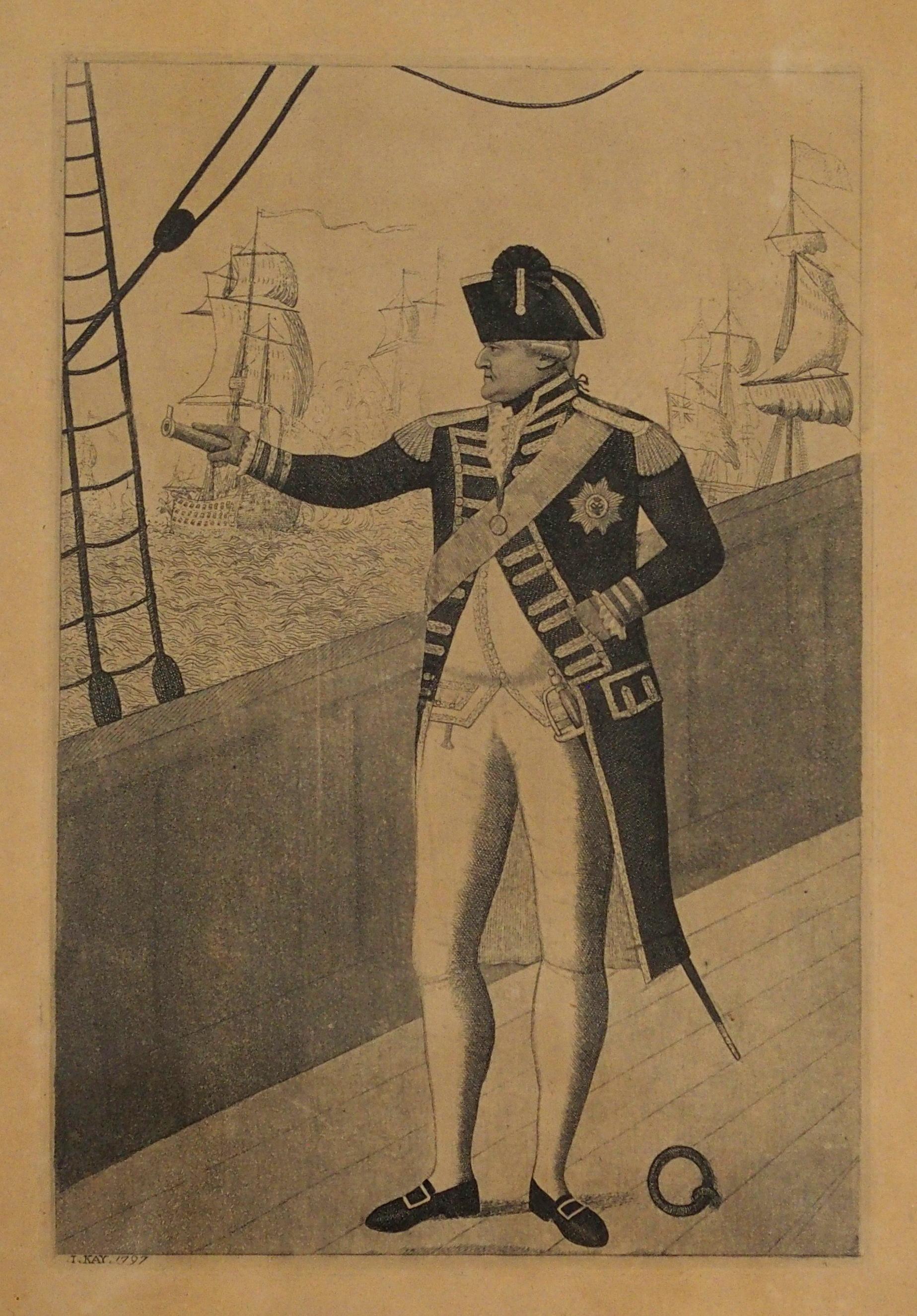 AFTER JOHN DUNCAN THE HEADLESS HORSEMAN engraving, 12 x 8cm, Admiral Viscount Duncan print, three - Image 3 of 12