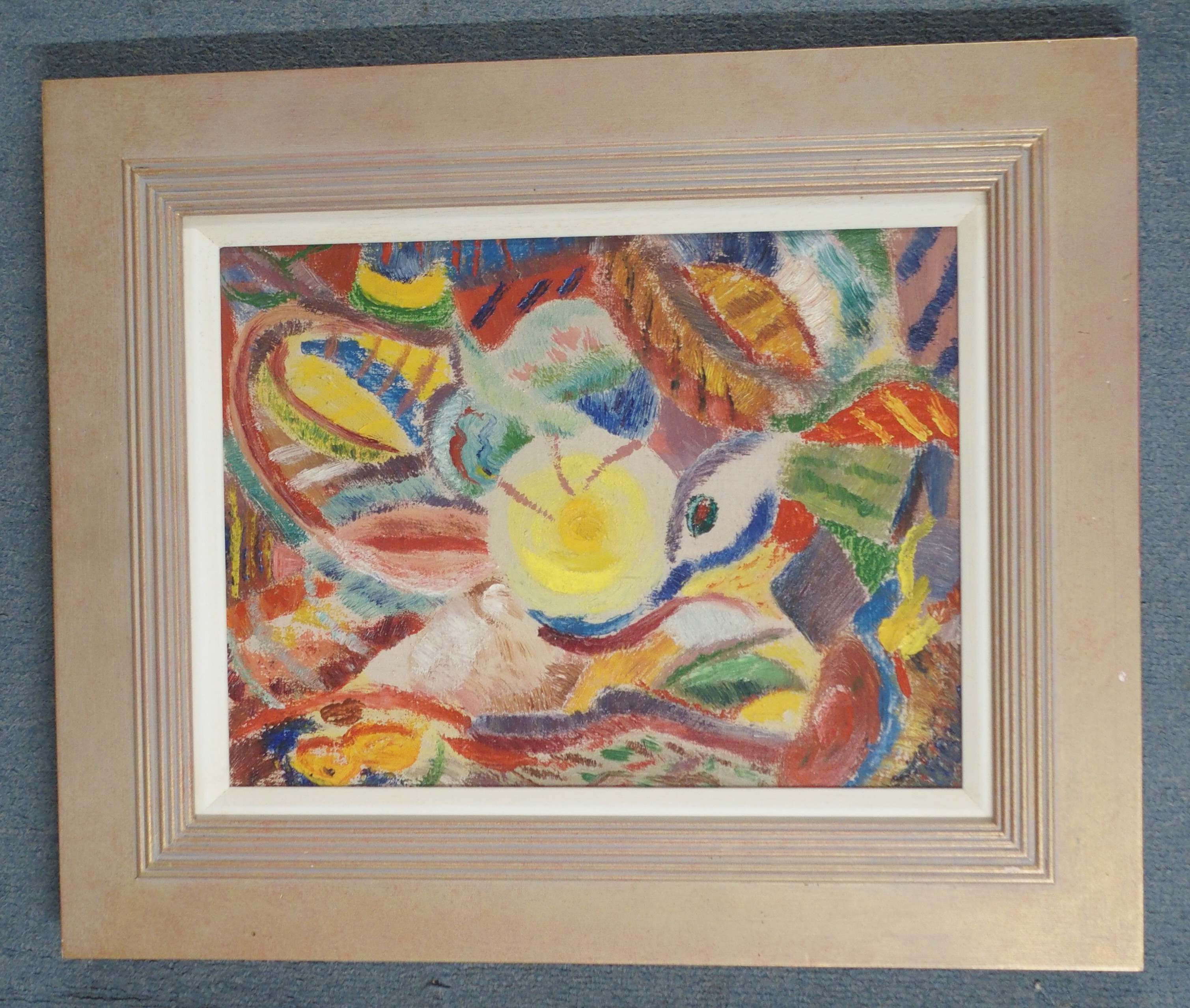 •DONALD BAIN (SCOTTISH 1904-1979) THE CROWDS OF BIRDS AND CHILDREN oil on canvas signed and - Image 2 of 8