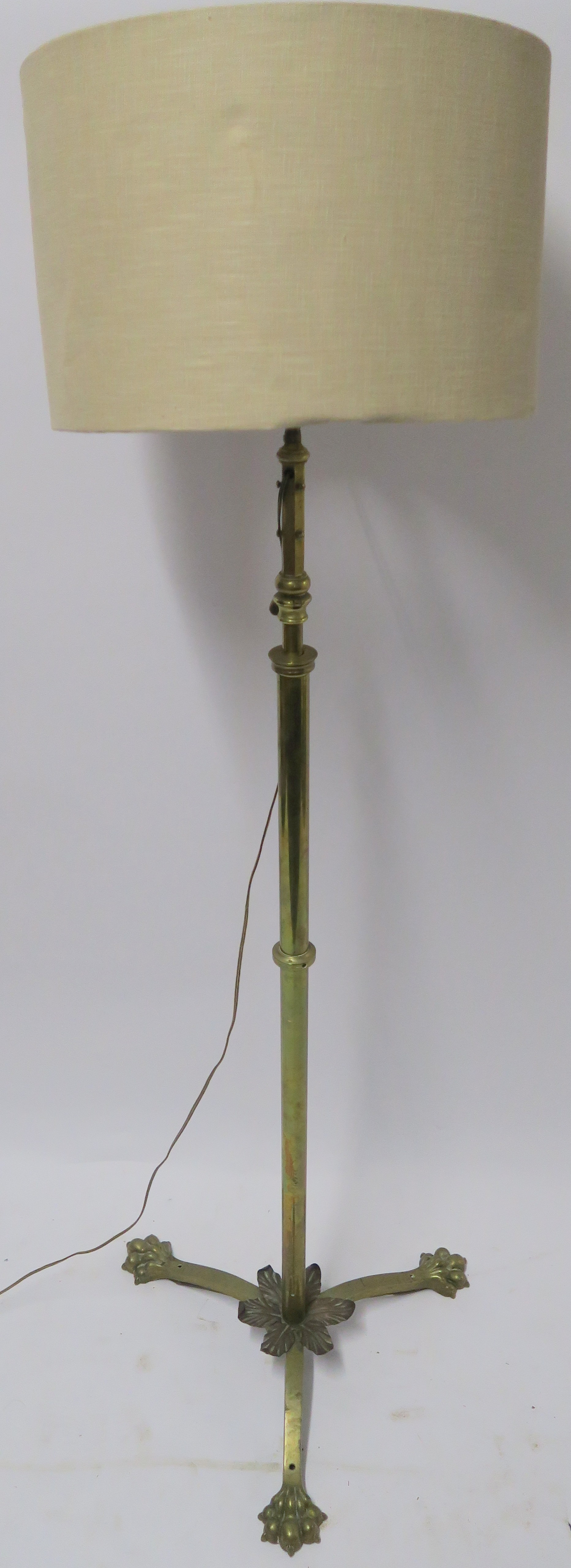 A BRASS STANDARD LAMP Condition Report: Available upon request