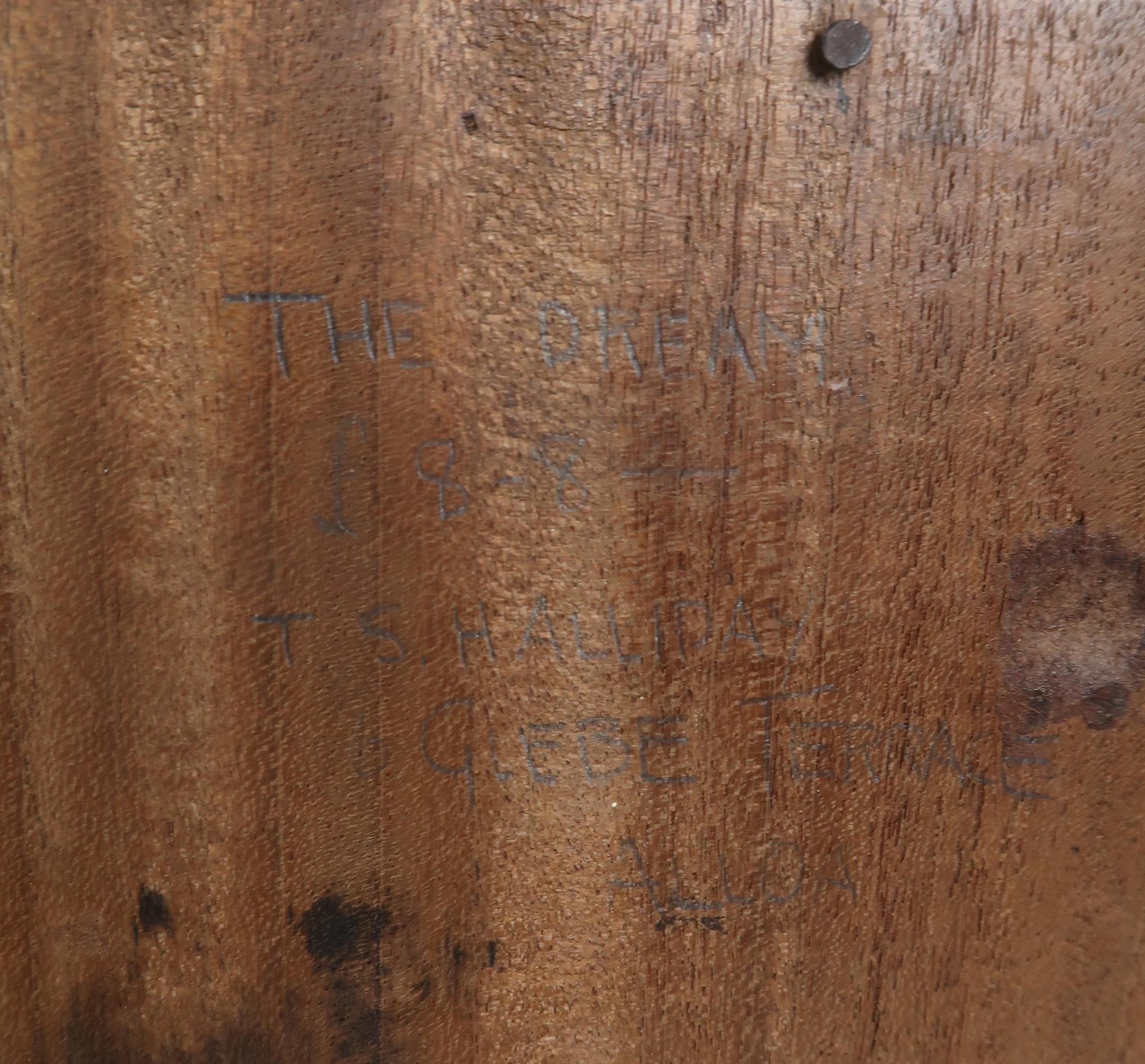 •THOMAS SYMINGTON HALLIDAY MBE, FRSA, DA (SCOTTISH 1902-1988) THE DREAM carved wood panel, signed - Image 4 of 6