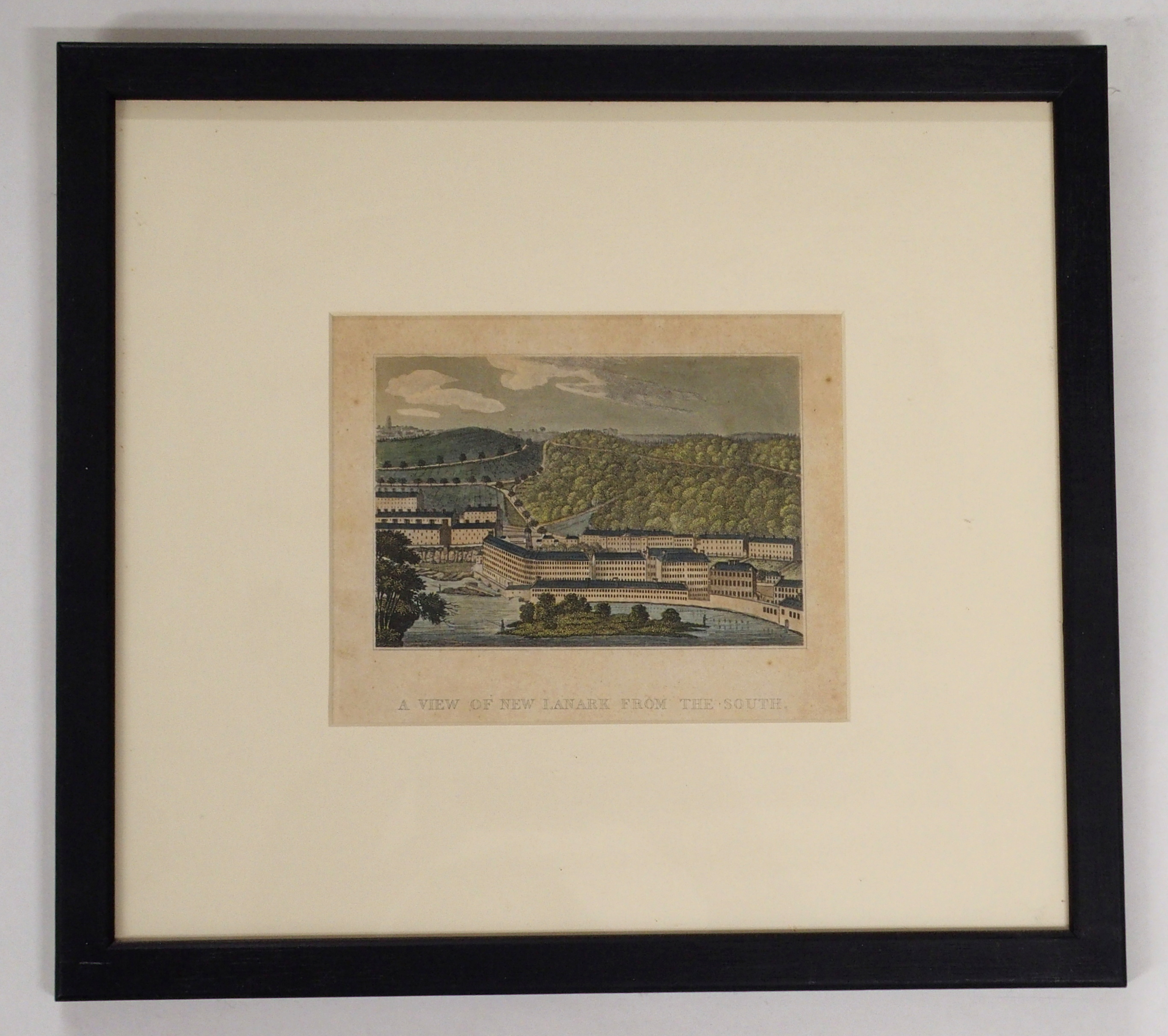 AFTER CLARK THE TOWN OF LANARK aquatint, 46 x 59cm, A View of New Lanark from the South, 14 x - Image 3 of 6