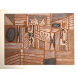 •CHARLES PULSFORD ARSA (SCOTTISH 1912-1989) GEOMETRIC DESIGN Chalk and pastel, 39 x 53cm Condition