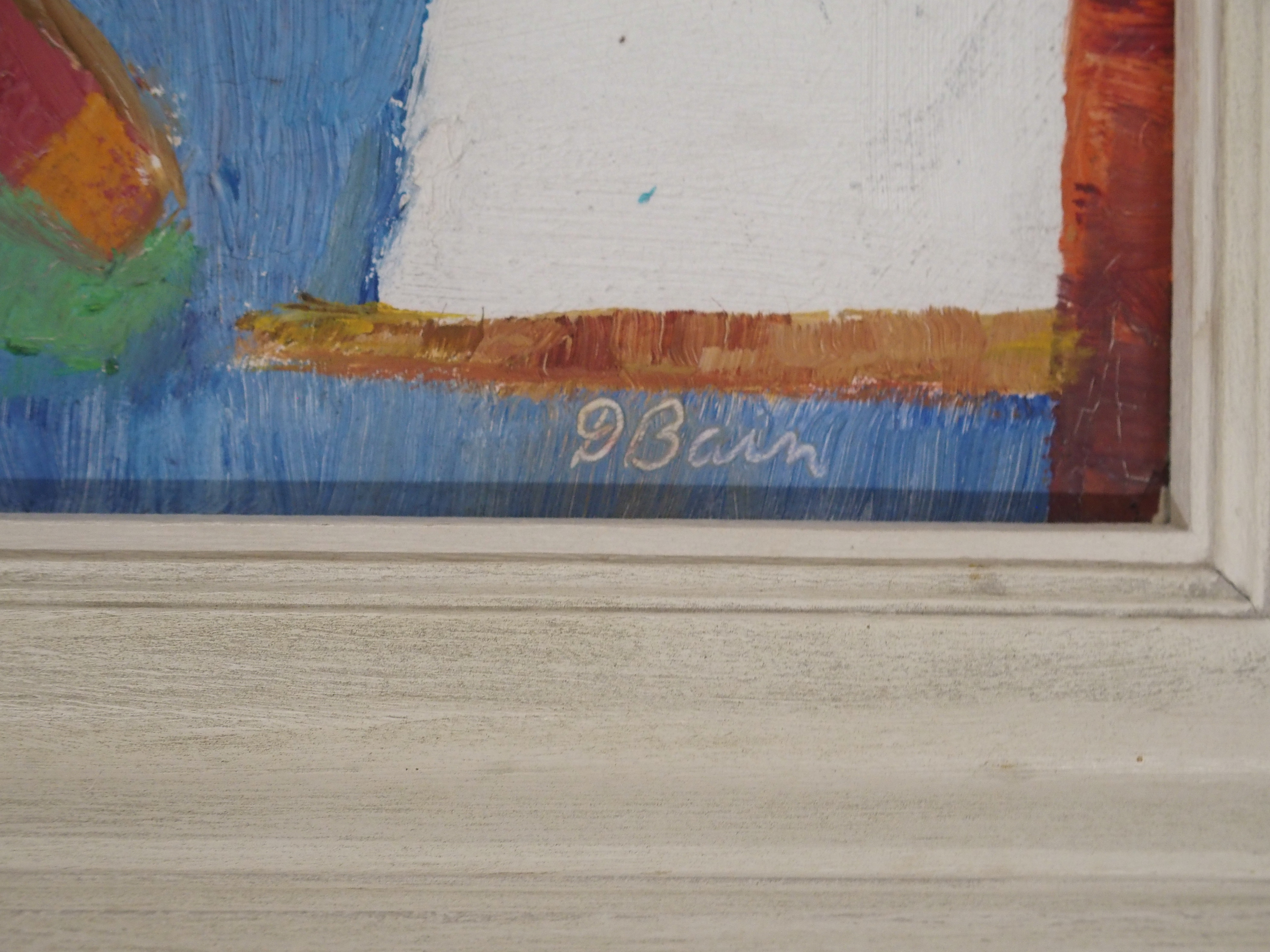 •DONALD BAIN (SCOTTISH 1904-1979) VACANCE DE MER oil on board, signed, 24 x 31cm William Hardie - Image 3 of 6