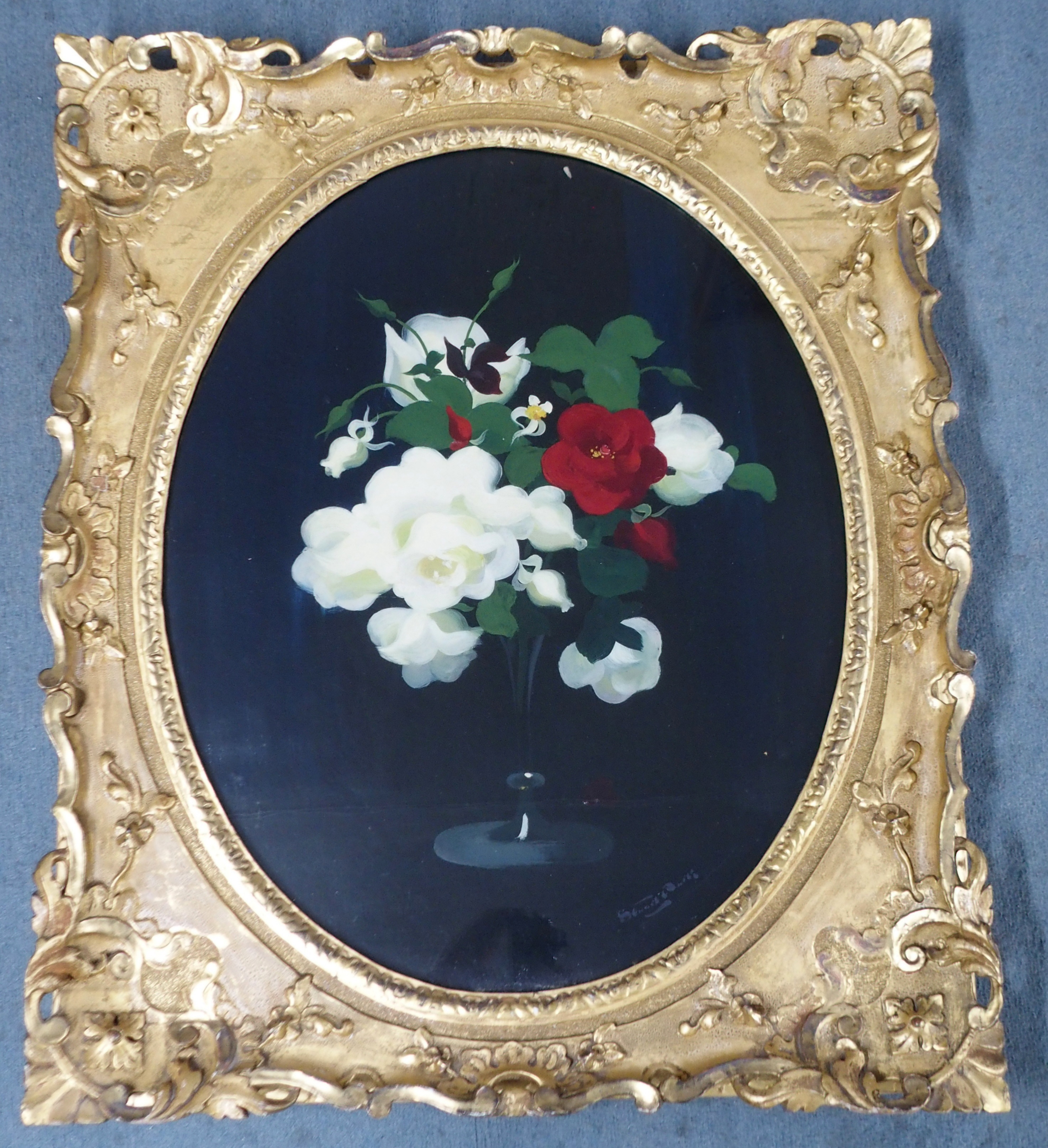 JAMES STUART PARK (SCOTTISH 1862-1933) MIXED ROSES oil on canvas, signed, 74 x 58cm Inscribed on - Image 2 of 7