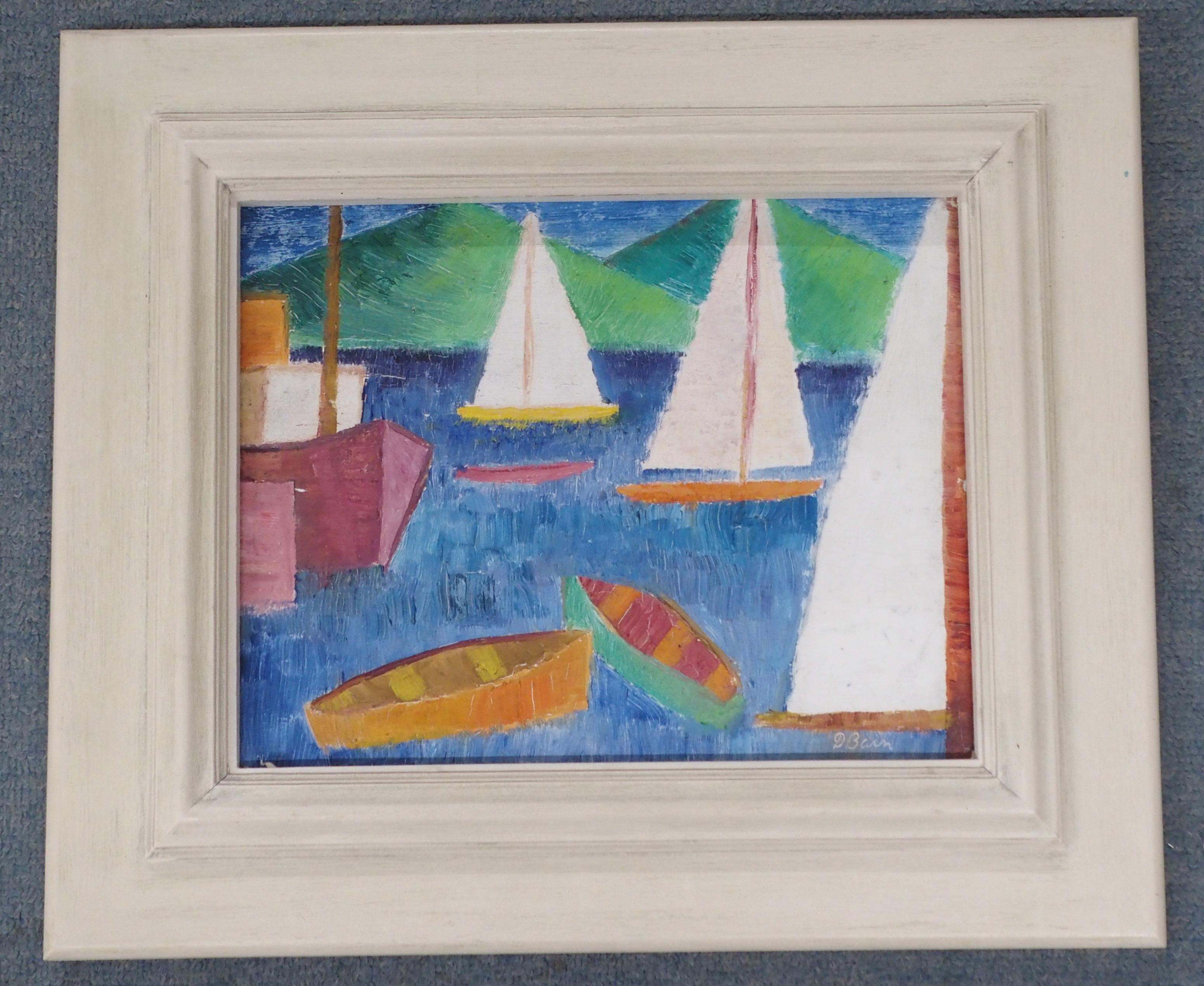 •DONALD BAIN (SCOTTISH 1904-1979) VACANCE DE MER oil on board, signed, 24 x 31cm William Hardie - Image 2 of 6