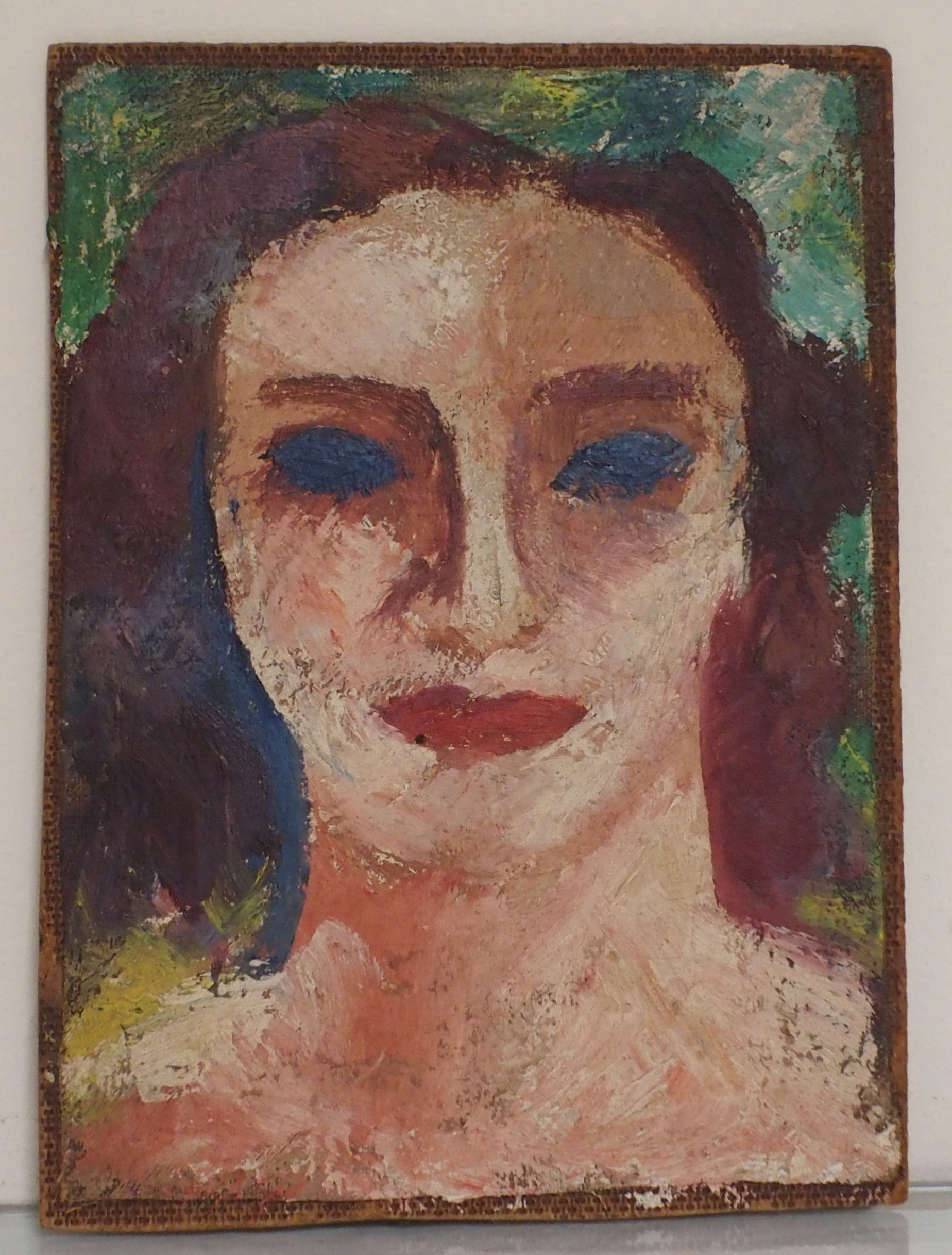 •DONALD BAIN (SCOTTISH 1904-1979) HEAD STUDY oil on canvas laid on panel board, 19.5 x 14cm signed - Image 3 of 5